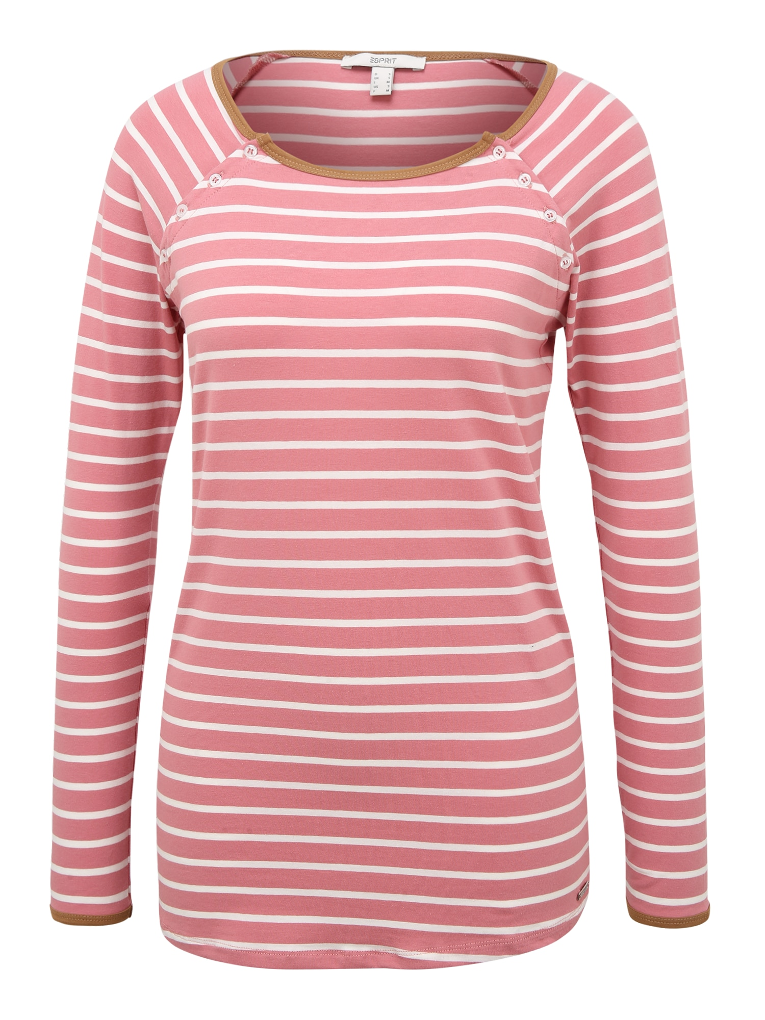 Esprit Maternity Marškinėliai balta / ryškiai rožinė spalva