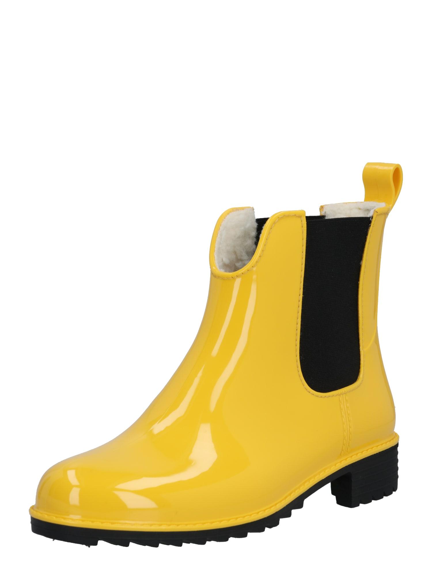 RIEKER Guminiai batai geltona / juoda