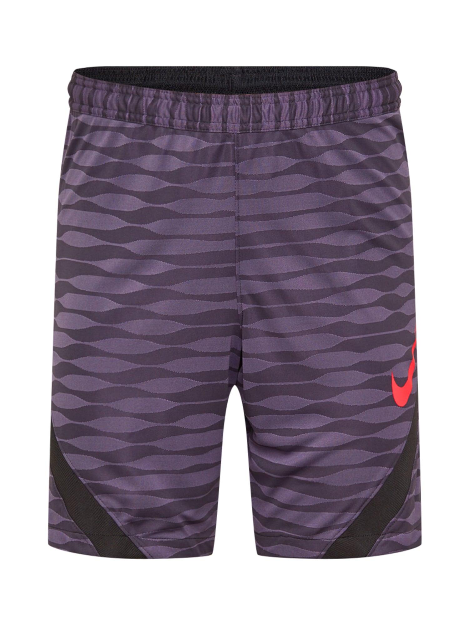 NIKE Sportinės kelnės juoda / raudona / baklažano spalva