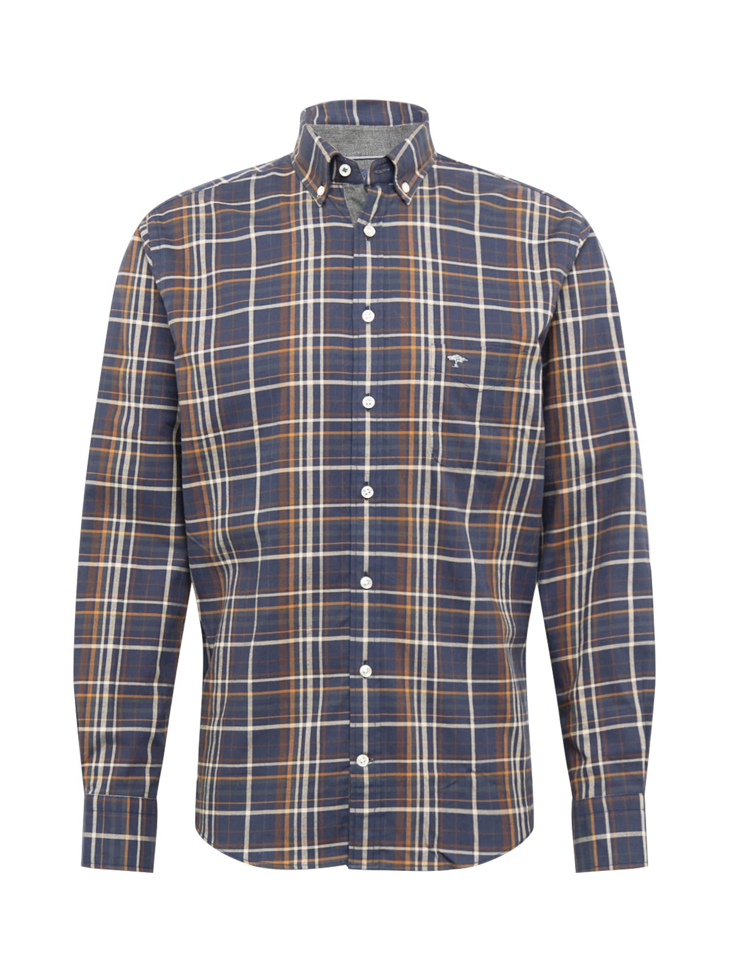 FYNCH-HATTON Marškiniai ruda / melsvai pilka