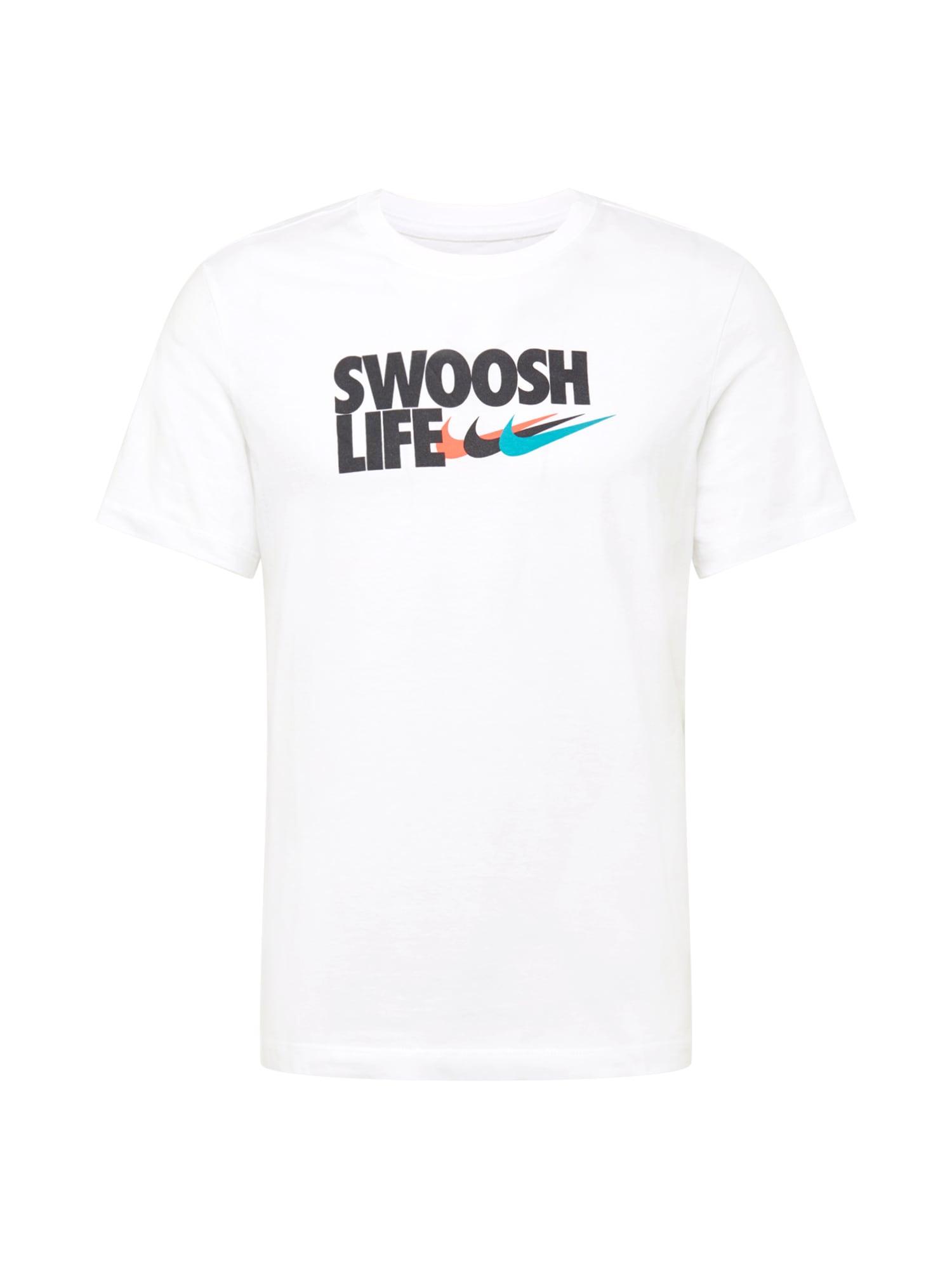 Nike Sportswear Tričko  bílá / černá / modrá / korálová