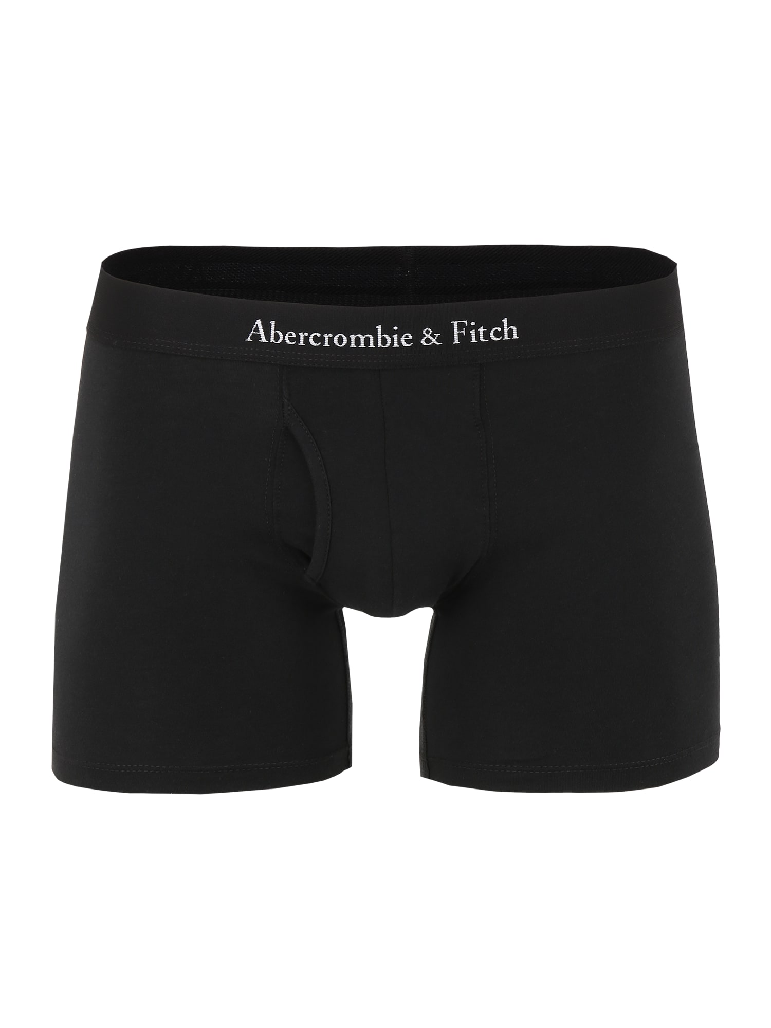 Abercrombie & Fitch Boxer trumpikės juoda / balta
