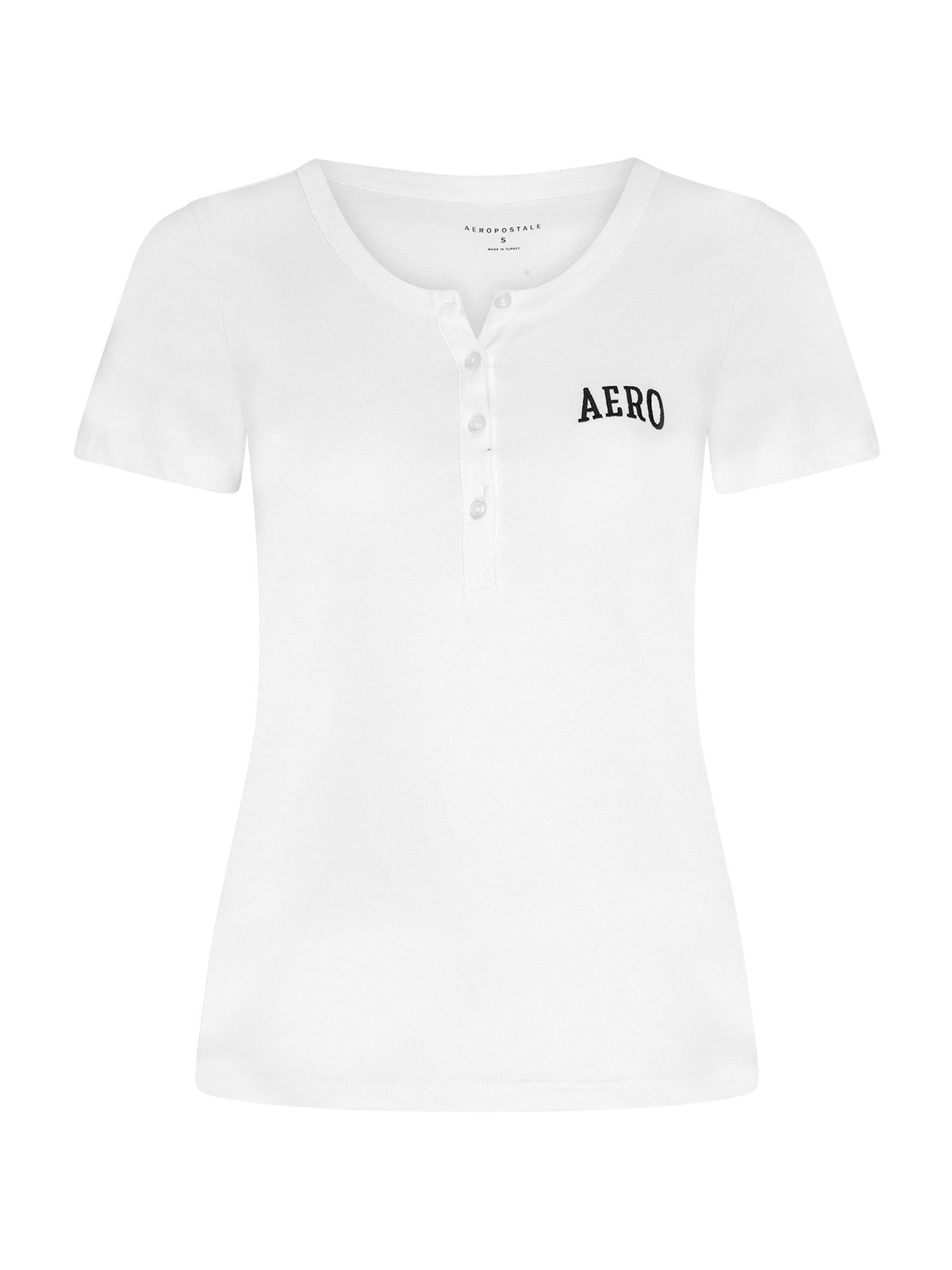 AÈROPOSTALE Marškinėliai balta / tamsiai mėlyna