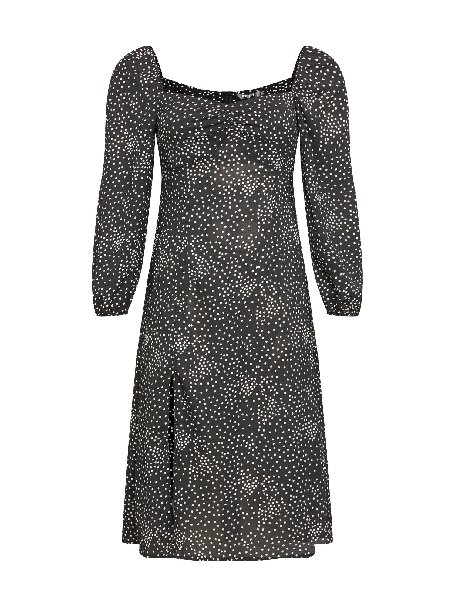 Missguided Plus Suknelė juoda / balta