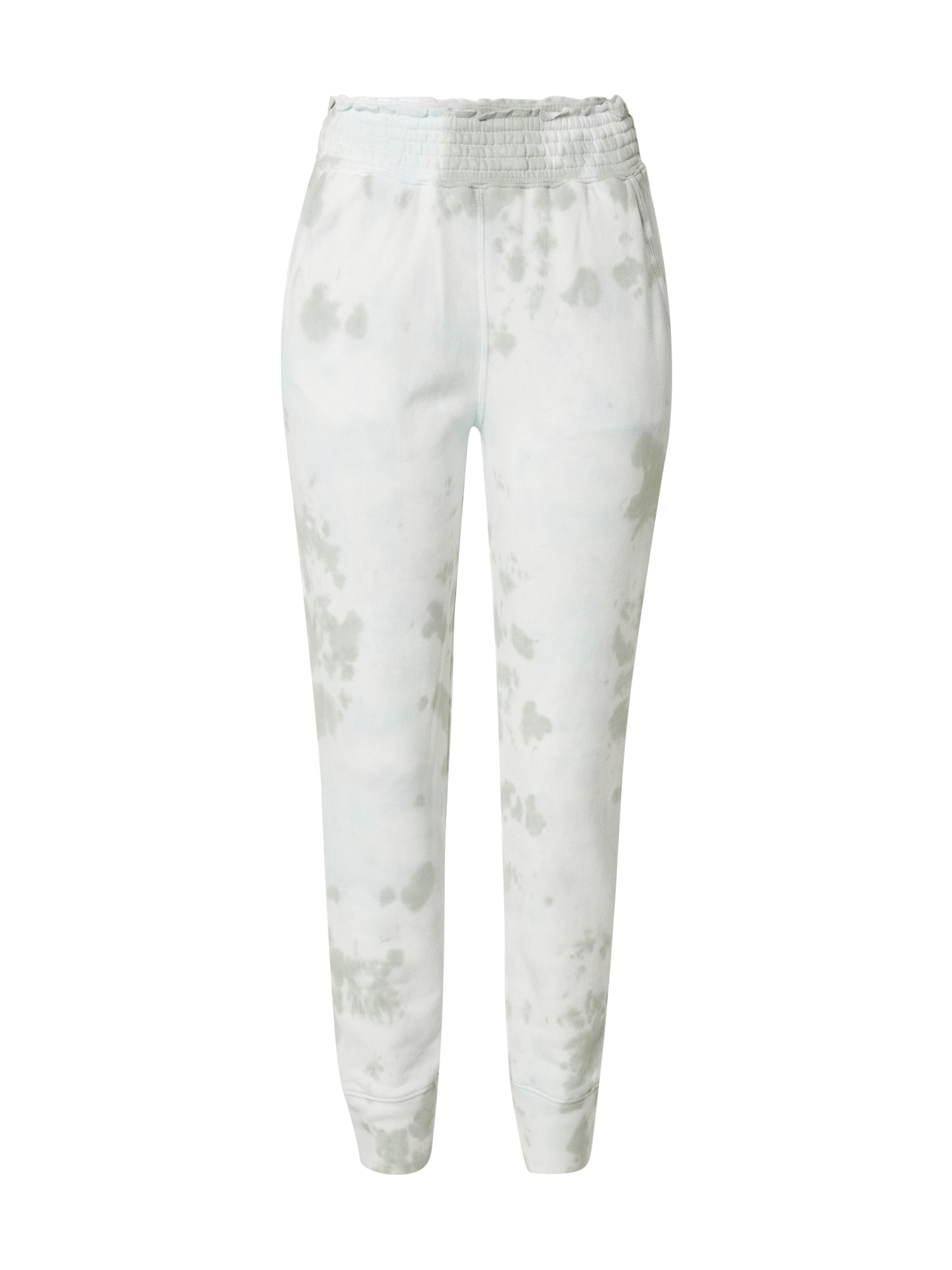 Abercrombie & Fitch Kelnės alyvuogių spalva / natūrali balta