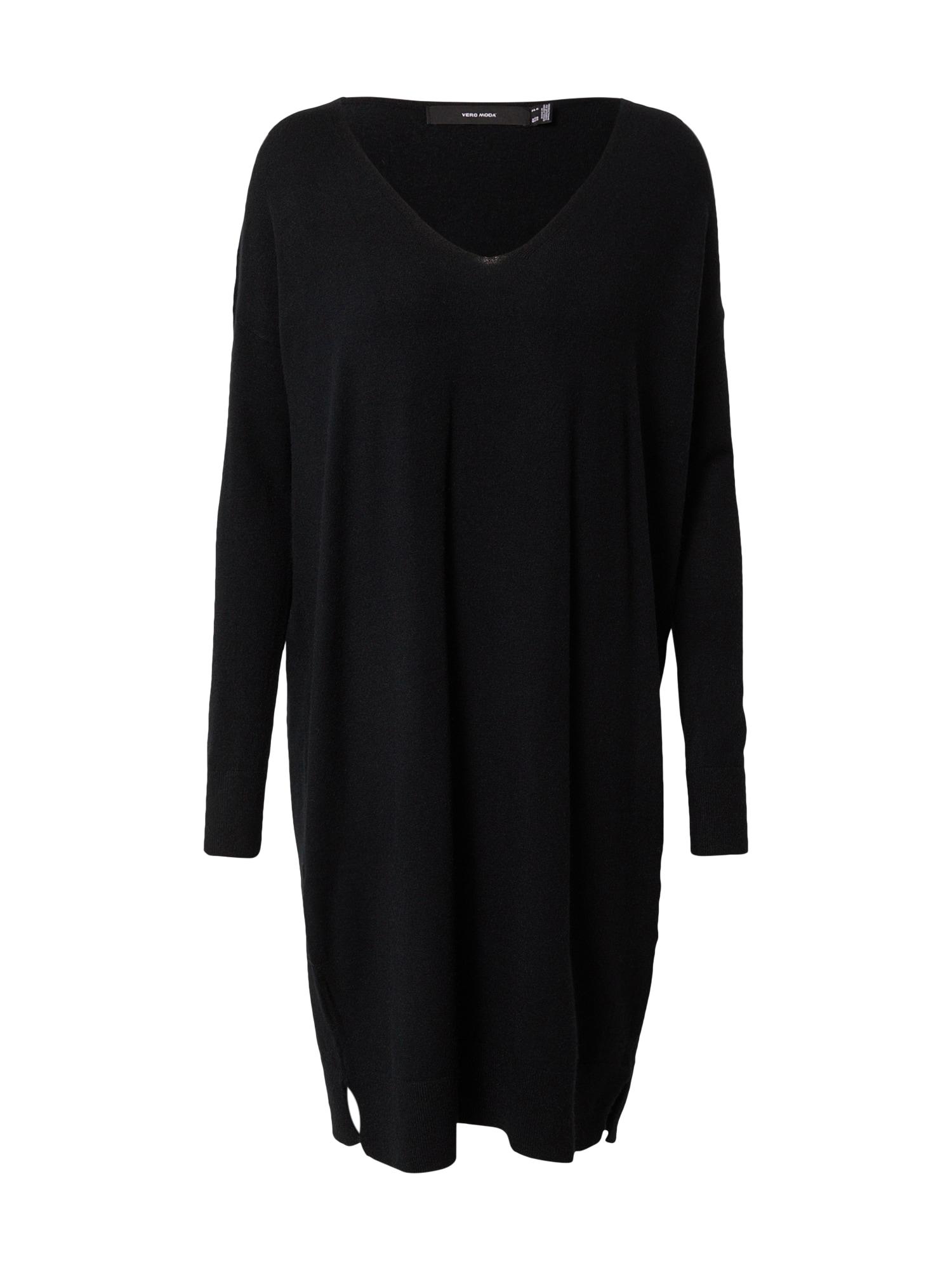 VERO MODA Úpletové šaty 'Holly'  černá