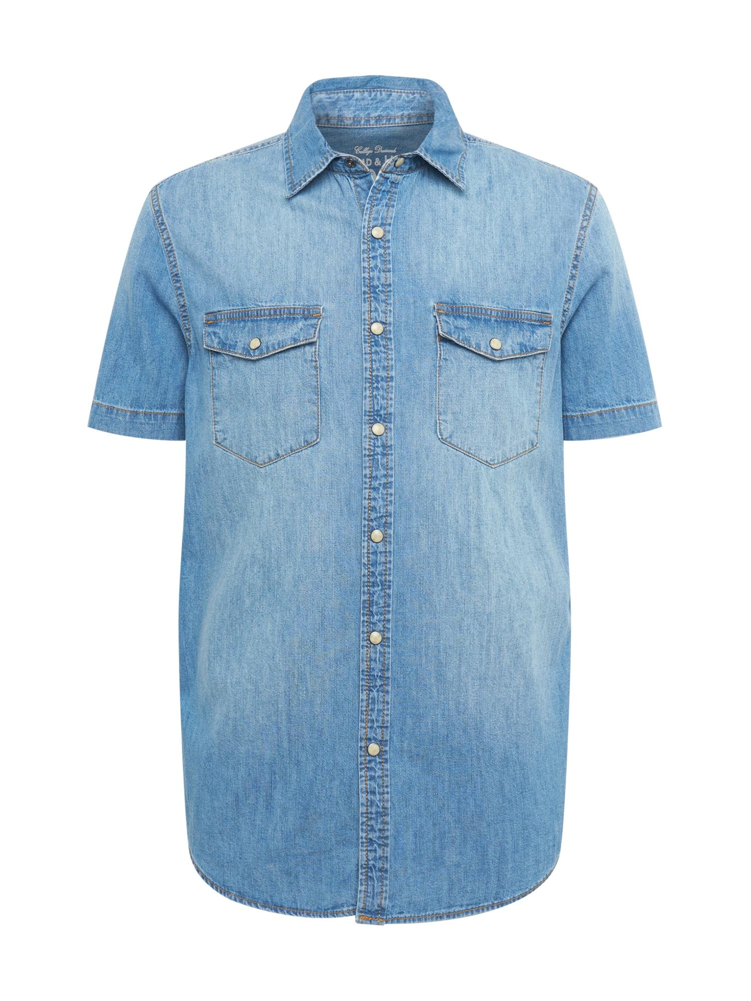 OVS Košile  modrá džínovina