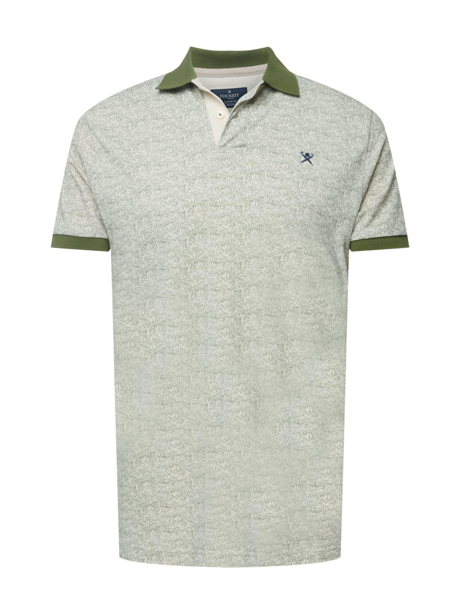 Hackett London Marškinėliai alyvuogių spalva / balta