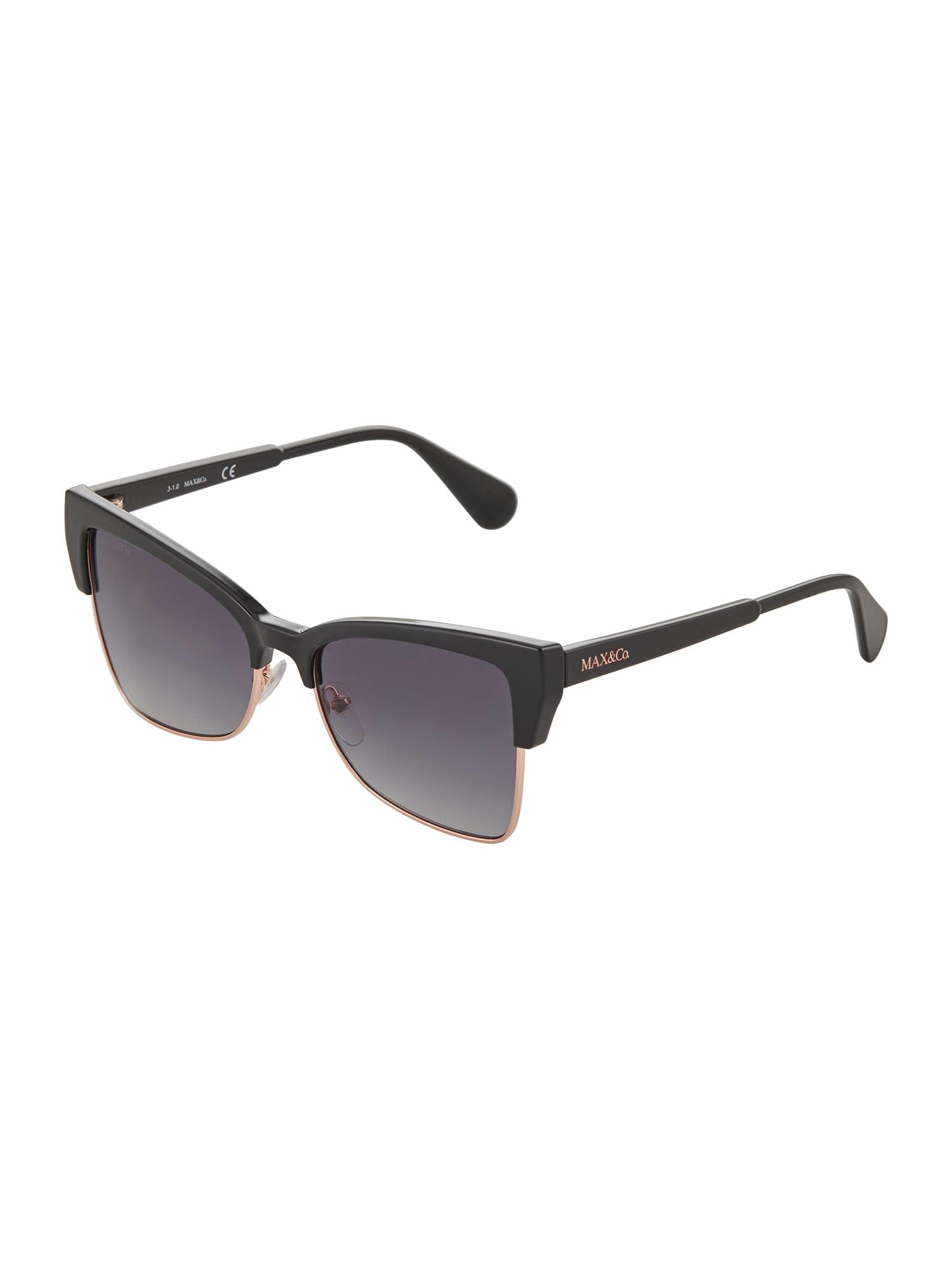 MAX&Co. Akiniai nuo saulės juoda / pilka / rožinio aukso spalva