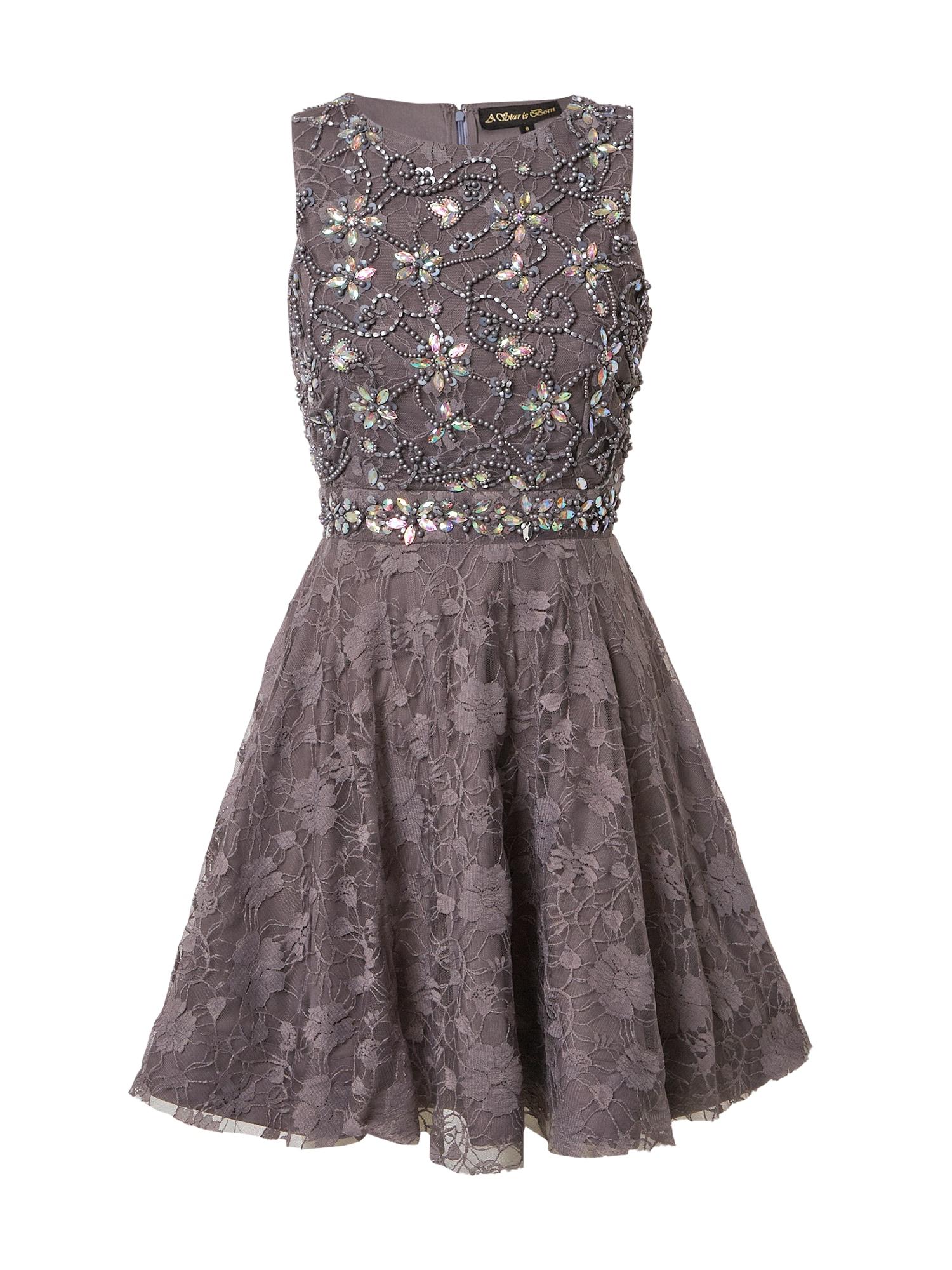 A STAR IS BORN Kokteilinė suknelė sidabrinė / rusvai pilka