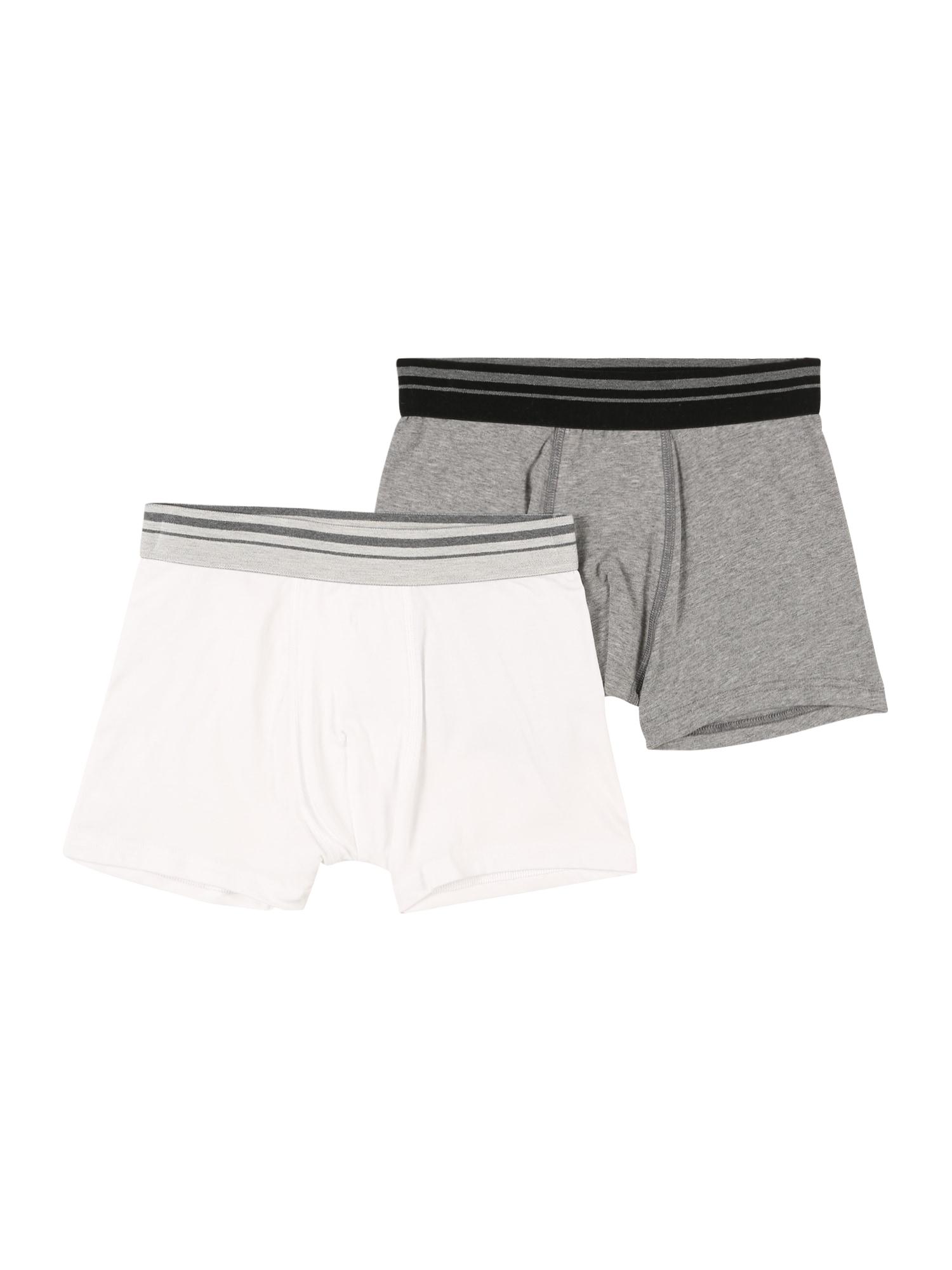 SANETTA Spodní prádlo  bílá / šedý melír