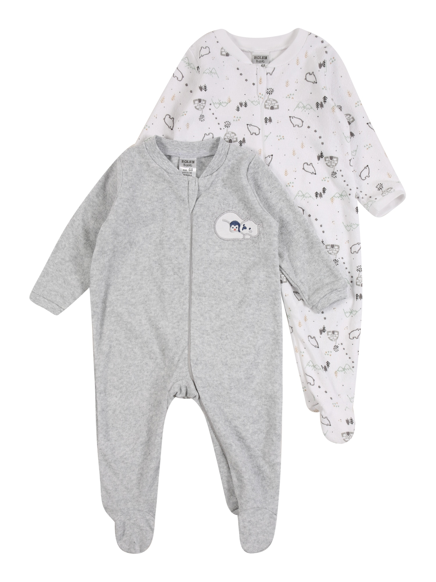 JACKY Pyžamo  bílá / šedá