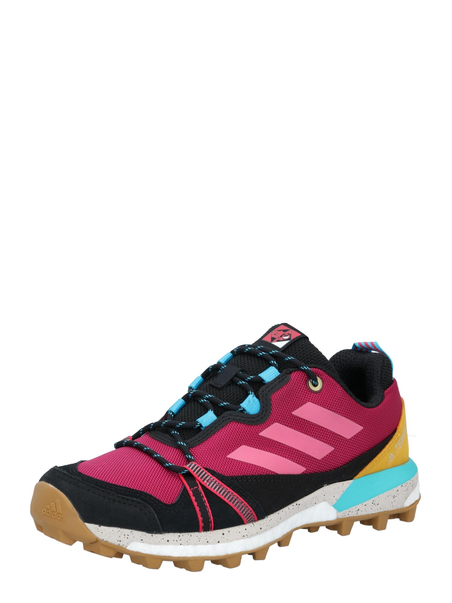 ADIDAS PERFORMANCE Sportiniai batai 'TERREX SKYCHASER' juoda / turkio spalva / avietinė