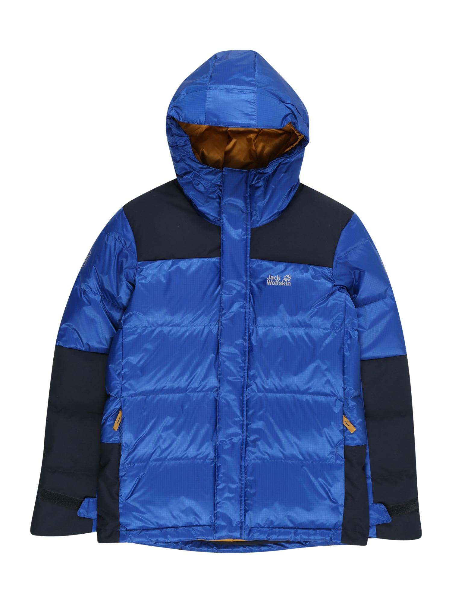 JACK WOLFSKIN Outdoorová bunda 'MOUNT COOK'  černá / královská modrá