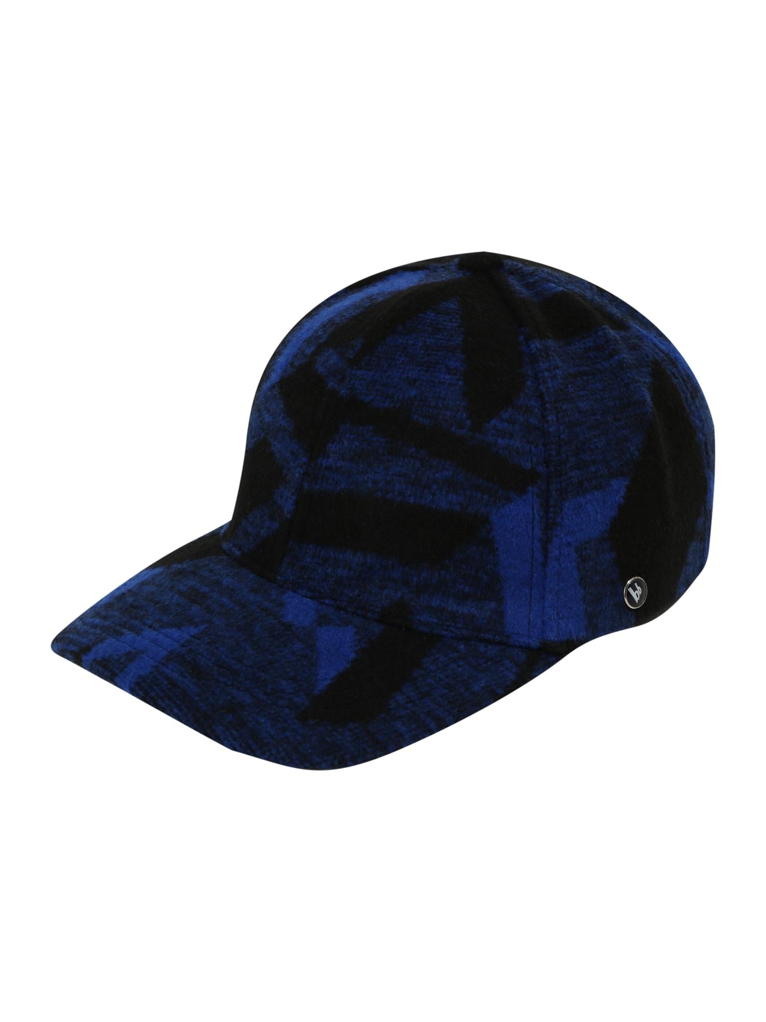 BRUNO BANANI Kepurė juoda / margai mėlyna / tamsiai mėlyna