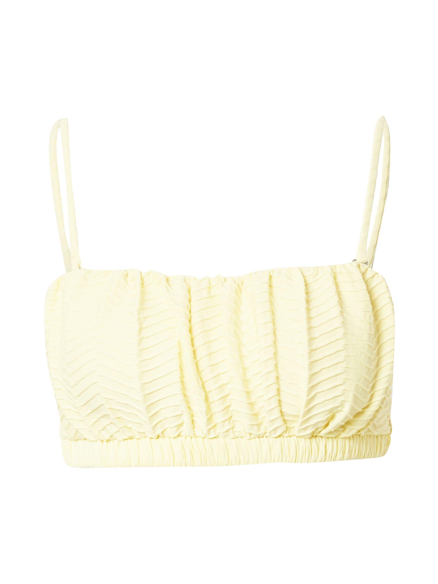Cotton On Body Bikinio viršutinė dalis šviesiai geltona