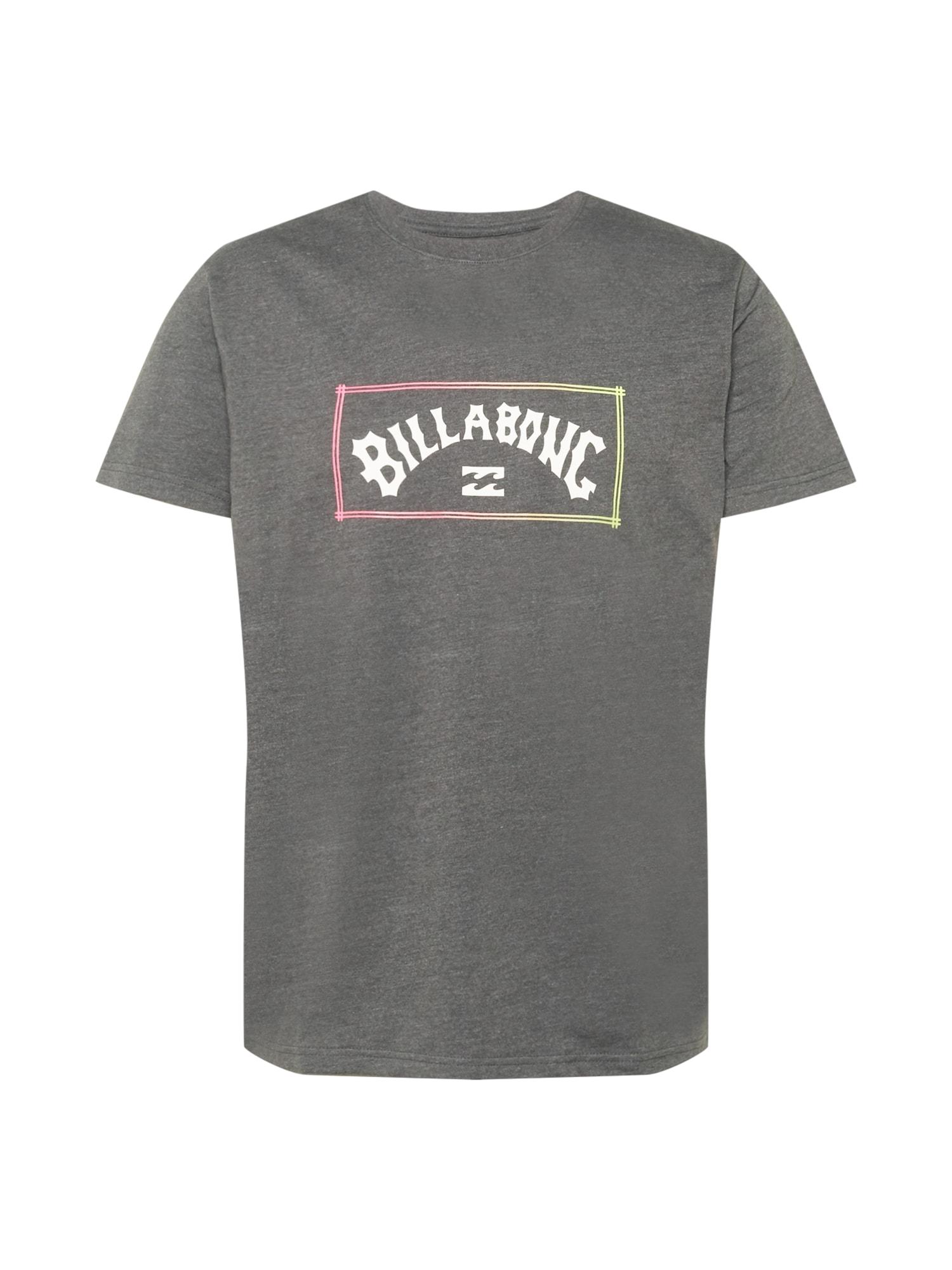 BILLABONG Marškinėliai balta / rožinė / geltona / pilka