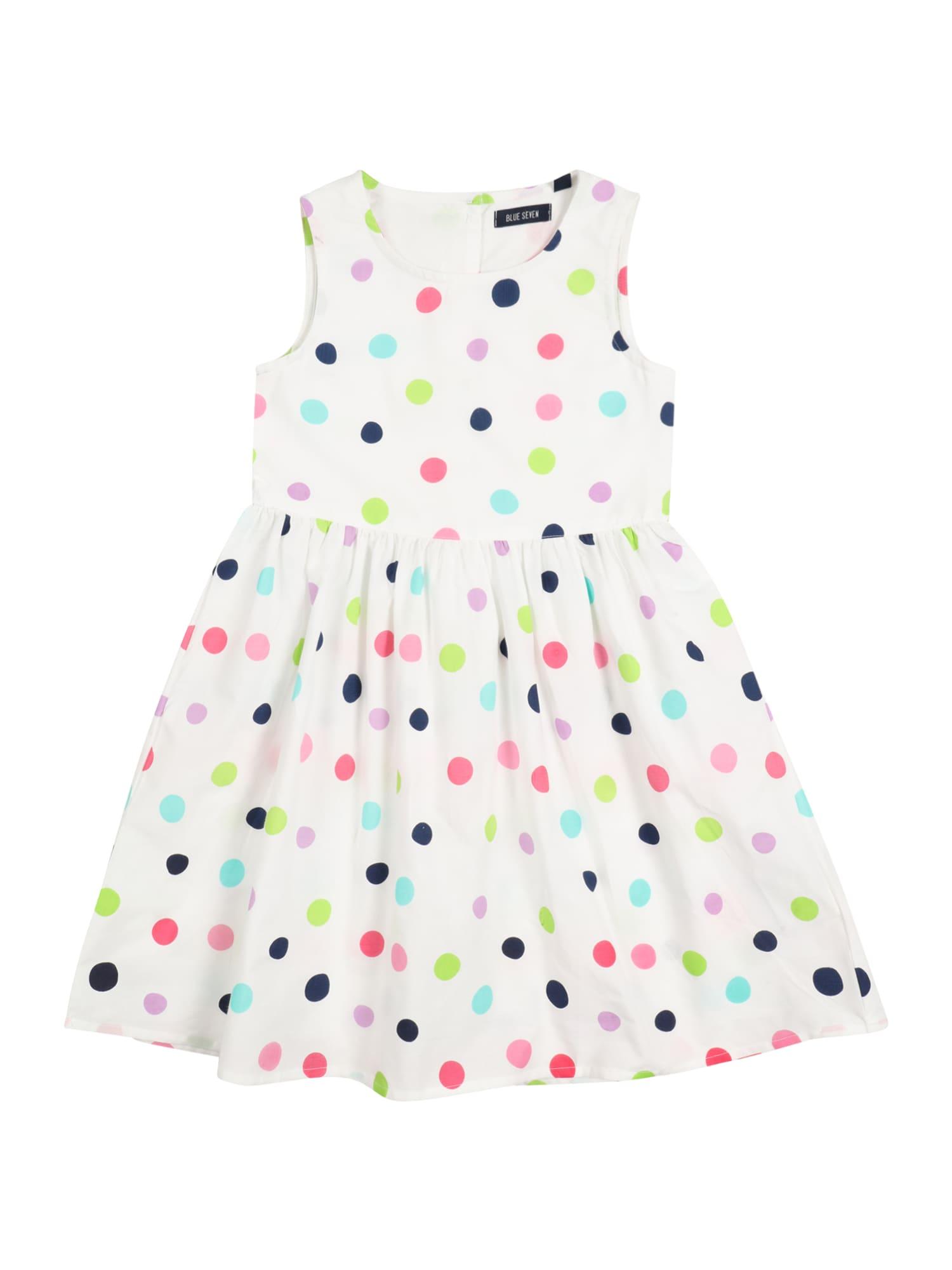 BLUE SEVEN Suknelė balta / tamsiai mėlyna / šviesiai mėlyna / šviesiai žalia / rožinė