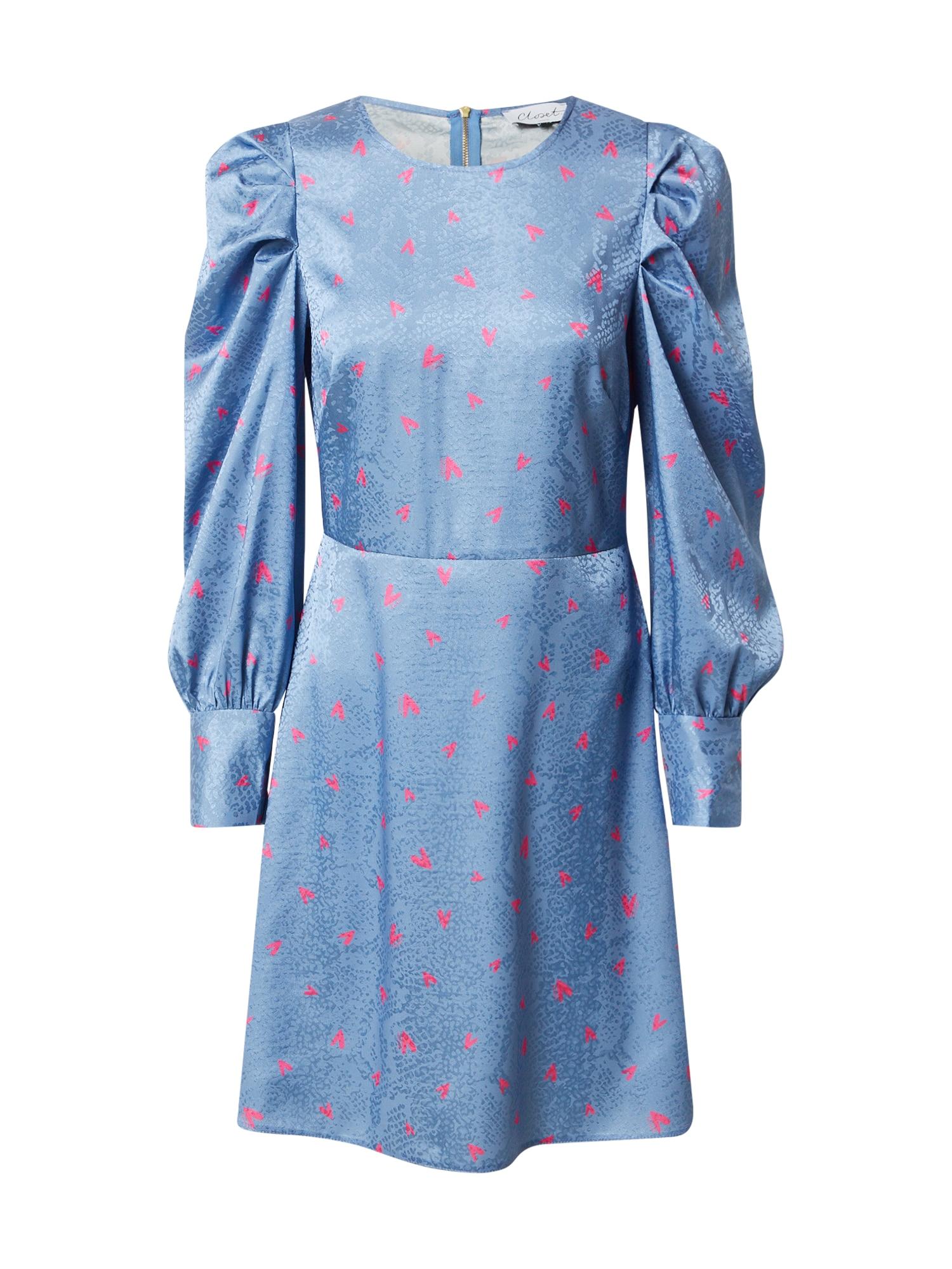 Closet London Suknelė mėlyna dūmų spalva / rožinė