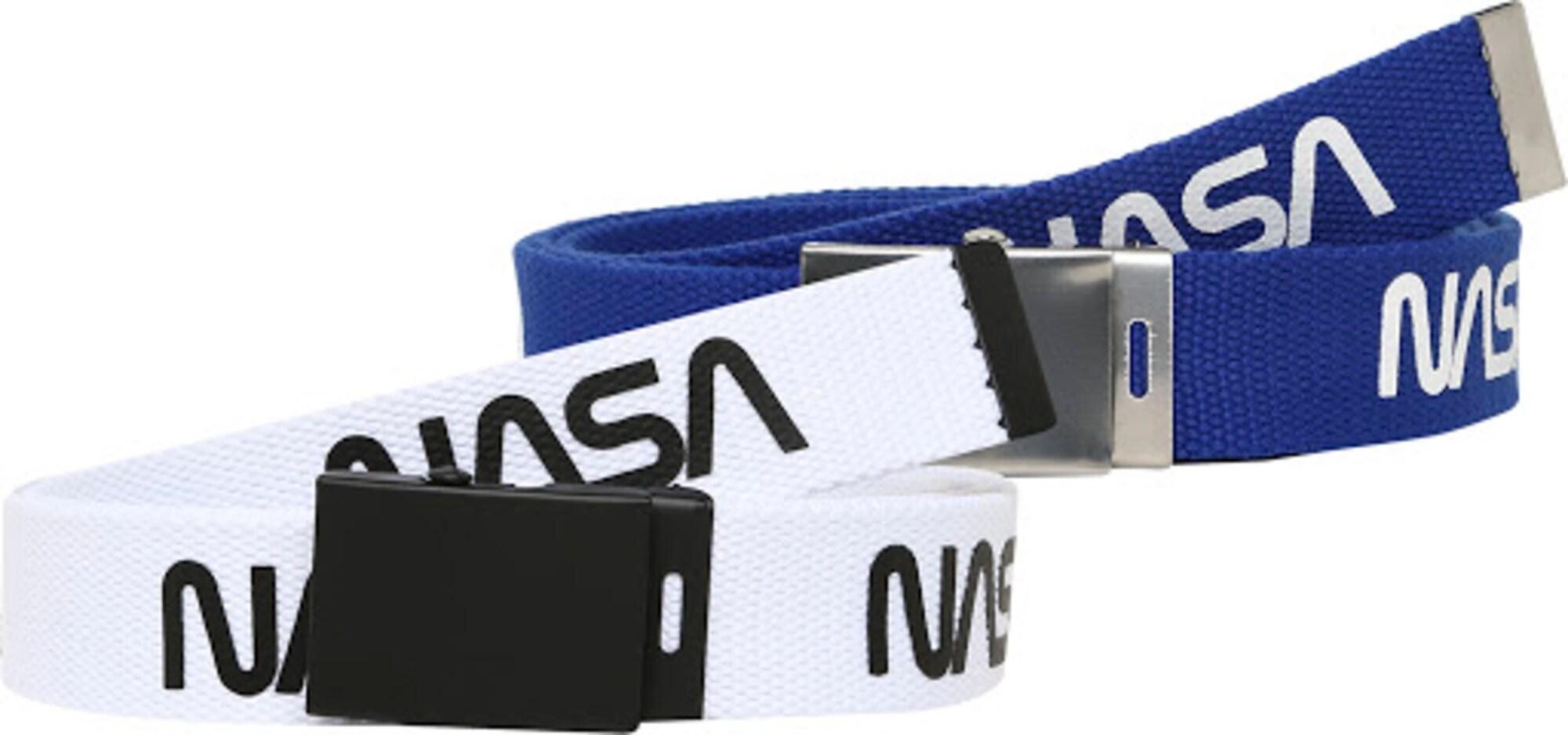 Mister Tee Opasek 'NASA'  bílá / modrá / černá / stříbrná