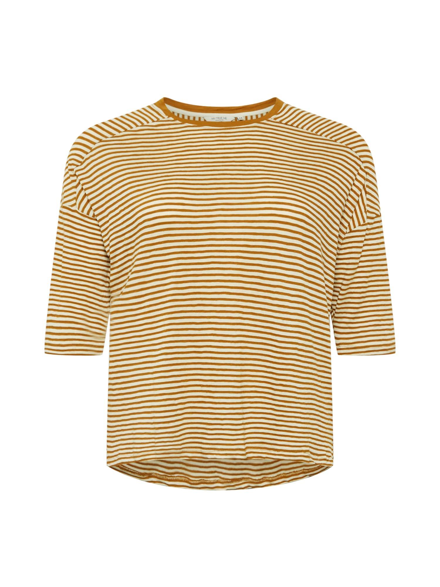 MY TRUE ME Marškinėliai ruda (konjako) / kremo