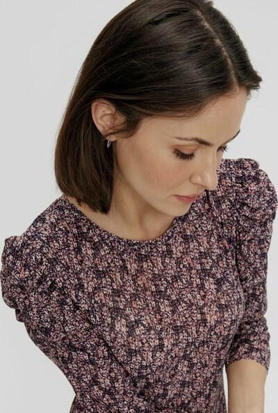 Pieces Gwena Midi-Kleid mit Blumenmotiv und 3/4-Ärmeln