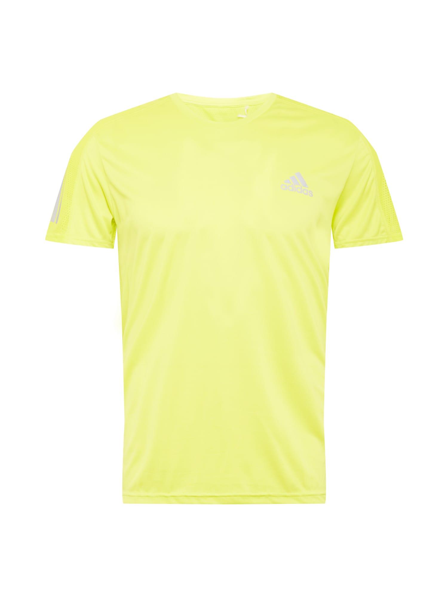 ADIDAS PERFORMANCE Funkční tričko 'Own the Run'  žlutá