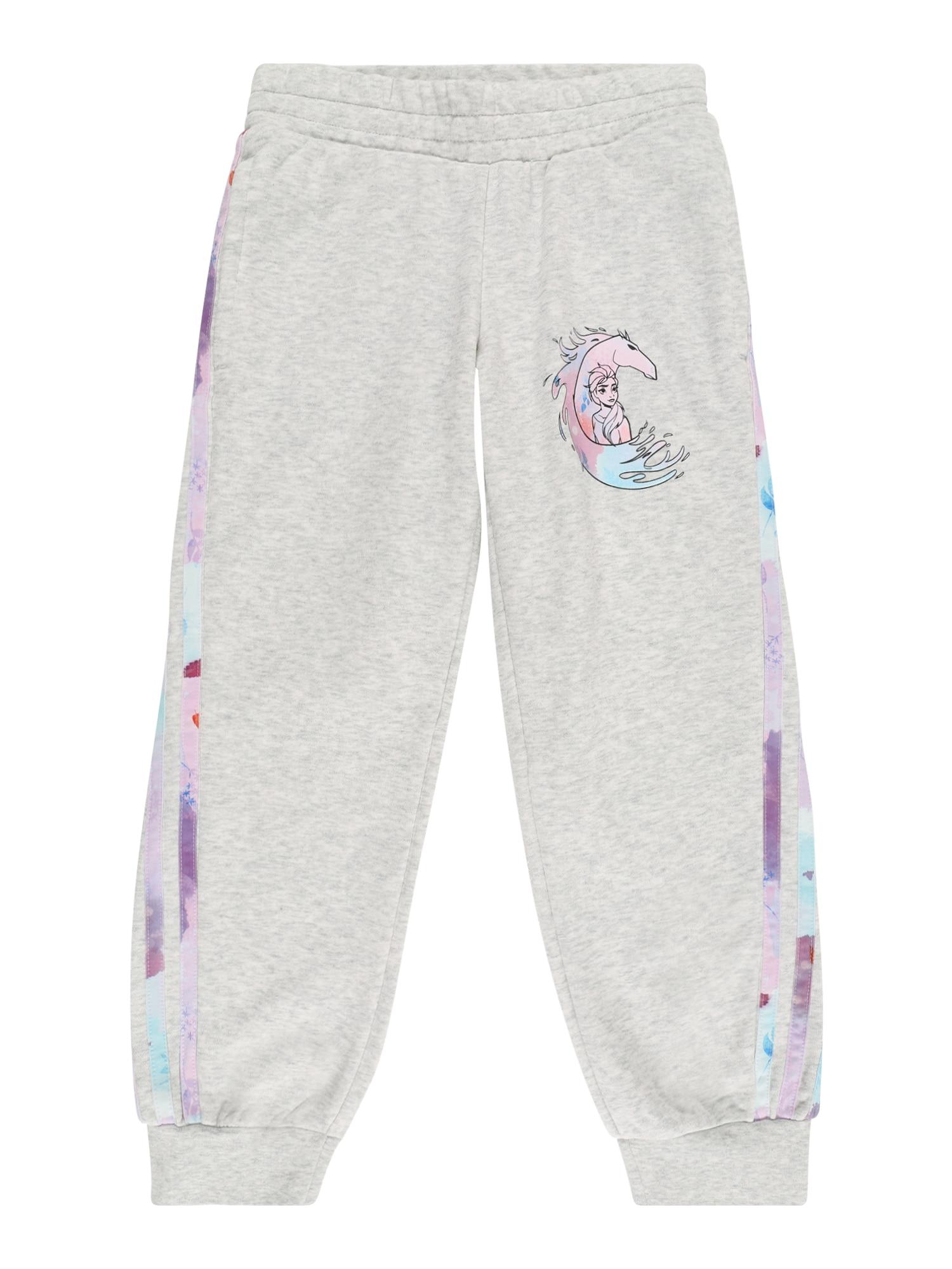 ADIDAS PERFORMANCE Sportinės kelnės 'Frozen' šviesiai pilka / turkio spalva / rožių spalva / pastelinė violetinė