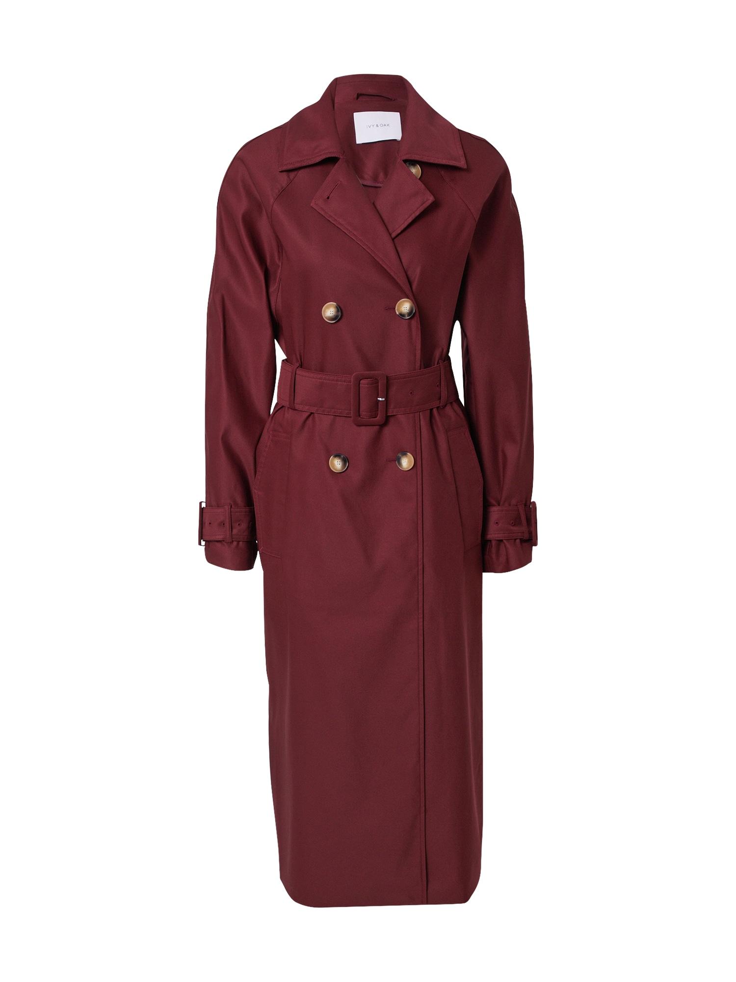 IVY & OAK Demisezoninis paltas vyšninė spalva