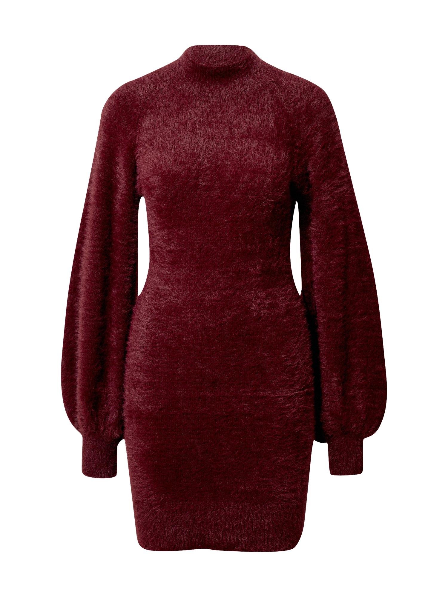 Bardot Úpletové šaty 'Bell'  vínově červená