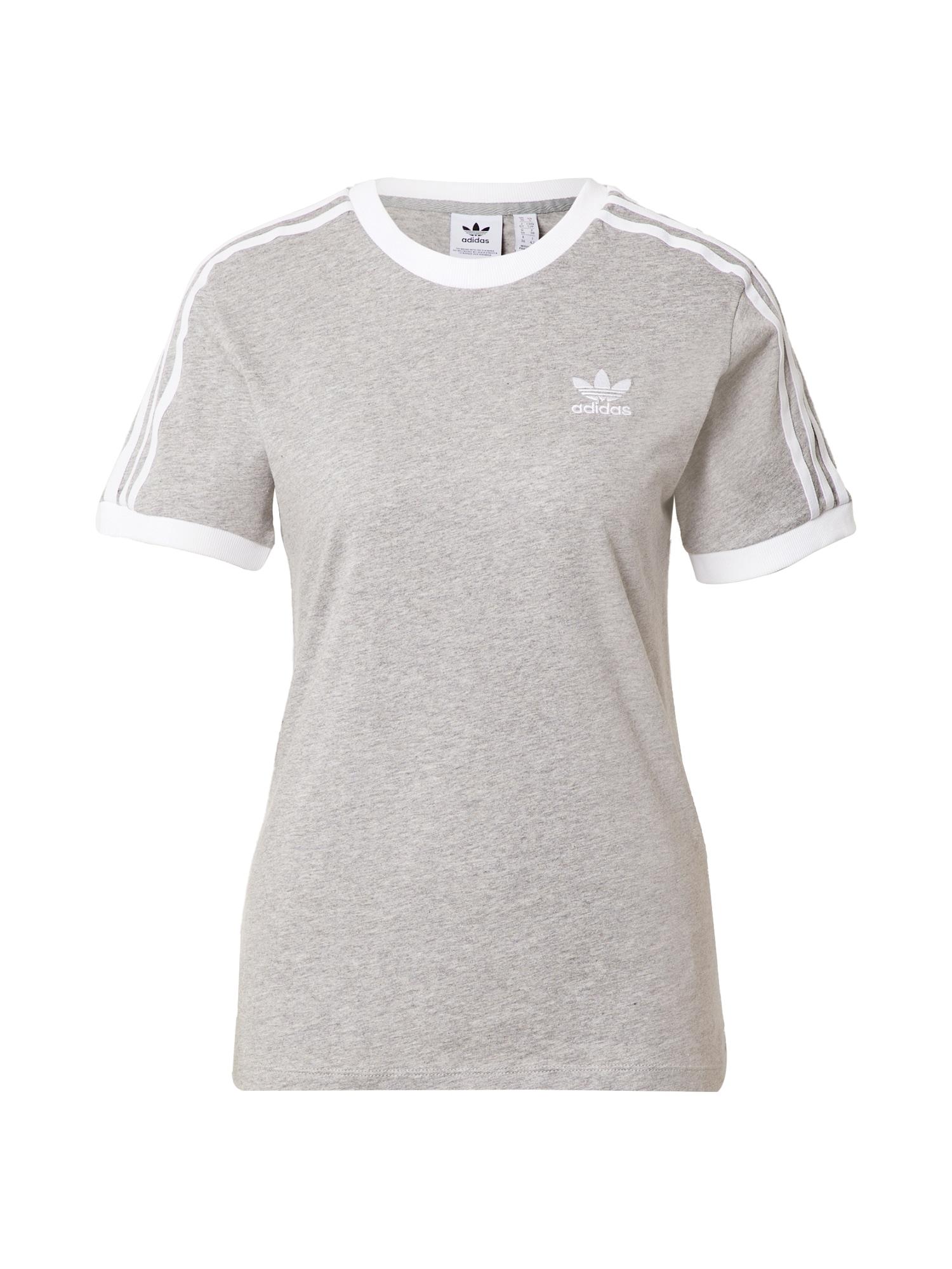 ADIDAS ORIGINALS Marškinėliai margai pilka / balta