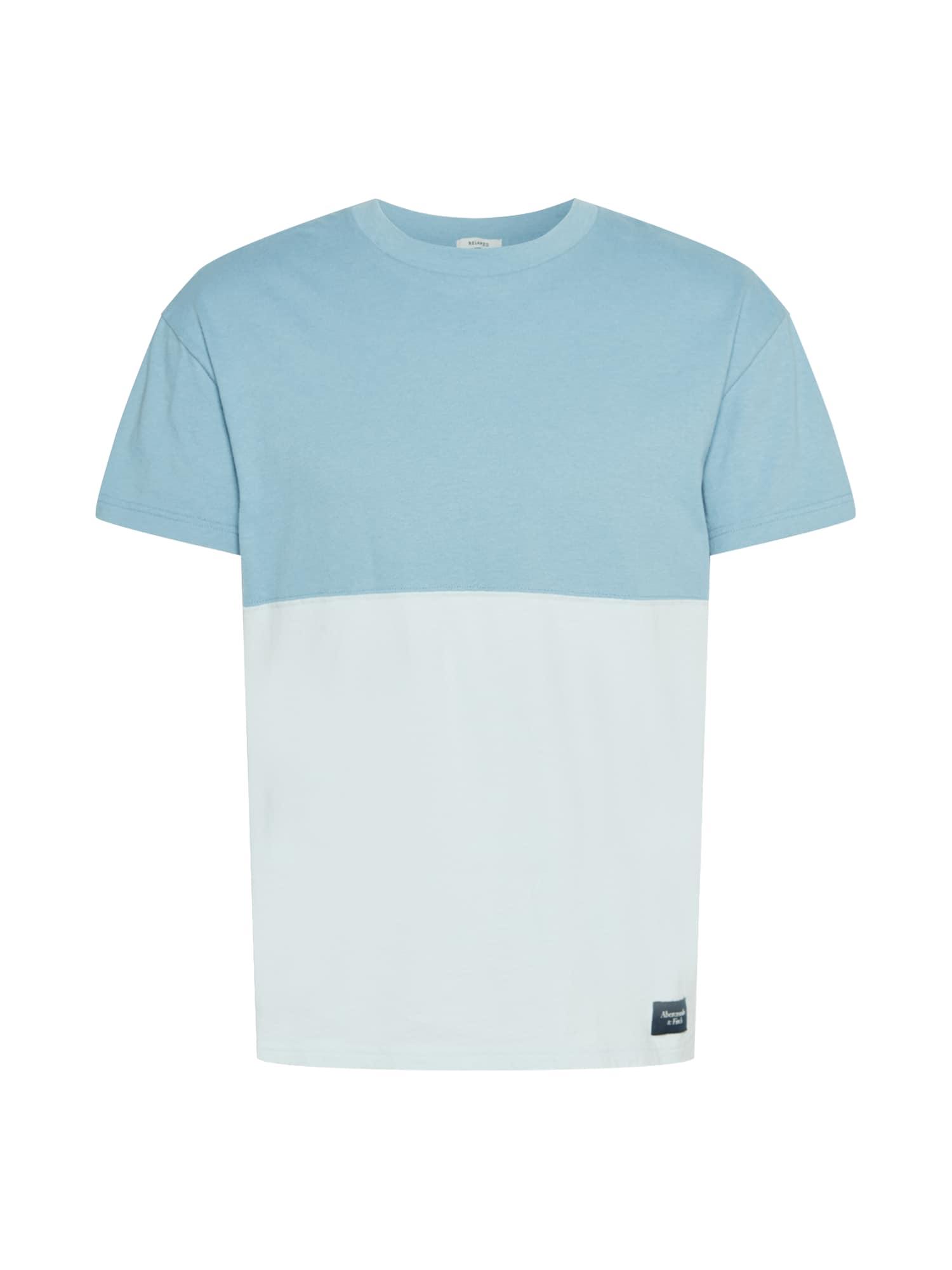 Abercrombie & Fitch Marškinėliai šviesiai mėlyna / opalo