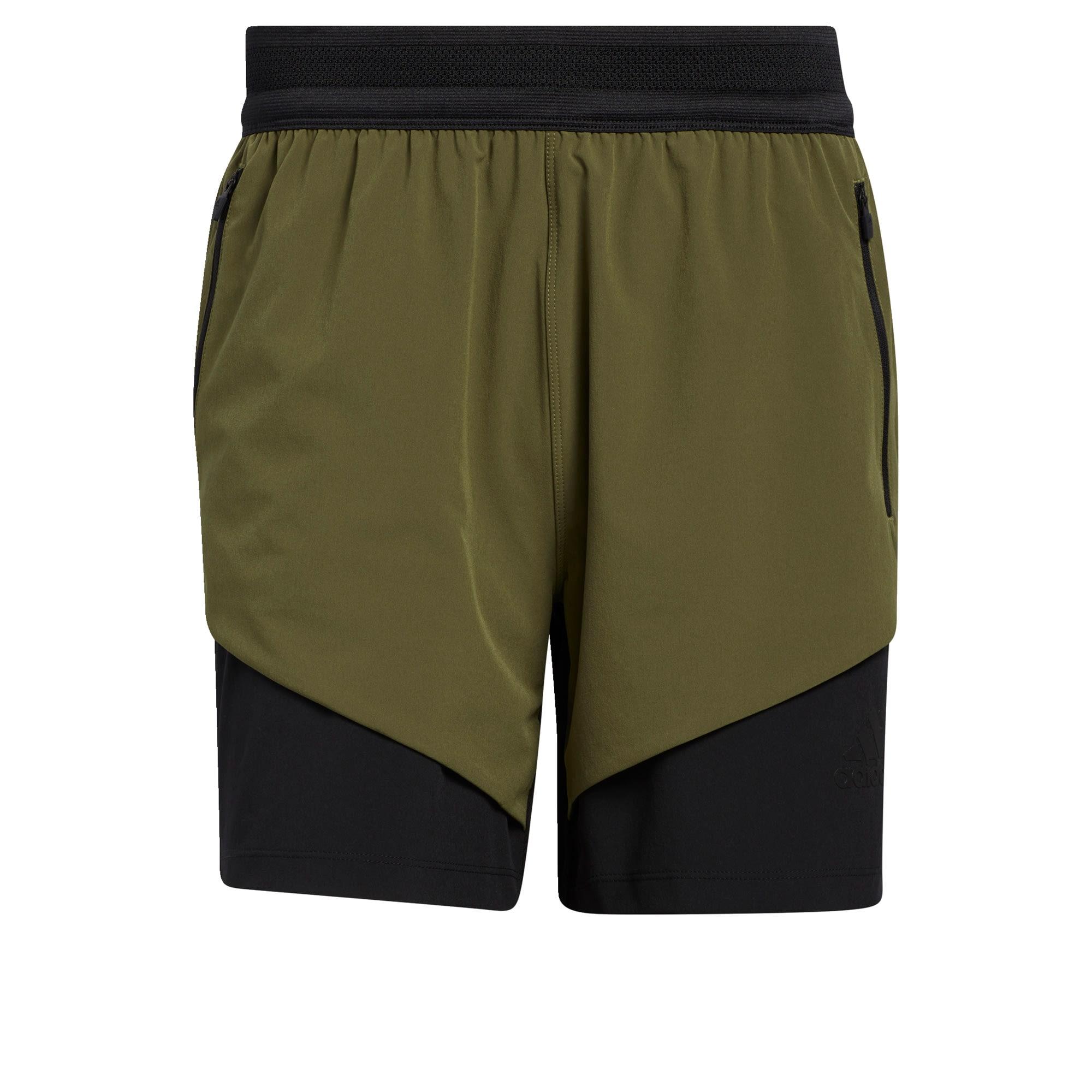 ADIDAS PERFORMANCE Sportinės kelnės alyvuogių spalva / rusvai žalia