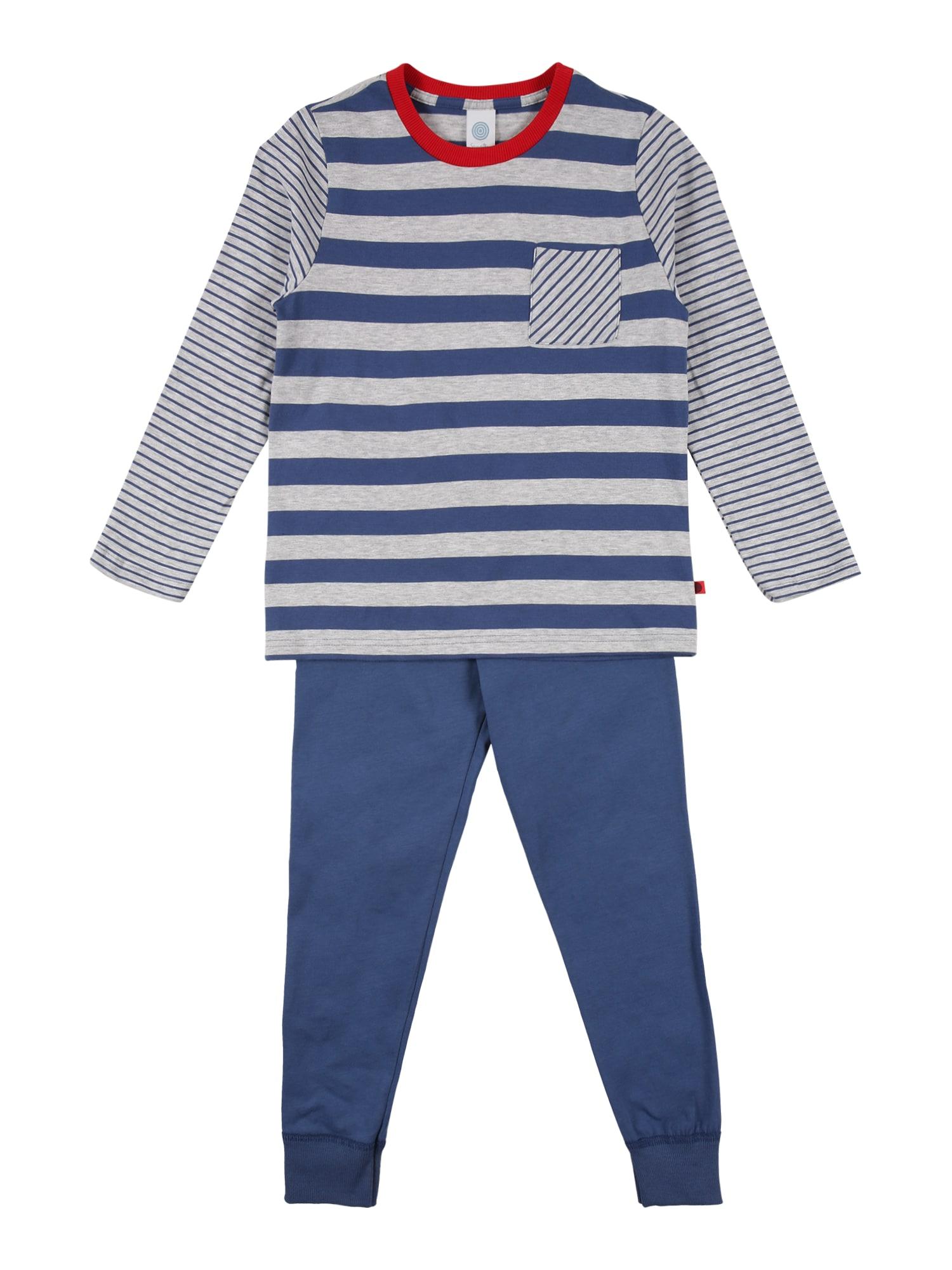 SANETTA Miego kostiumas mėlyna dūmų spalva / opalo / raudona