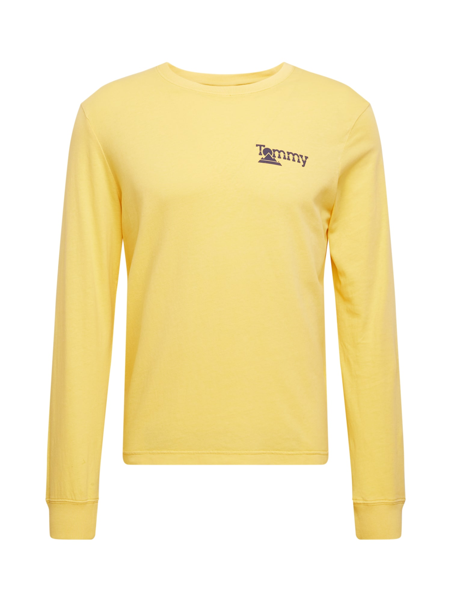 Tommy Jeans Tričko 'Mountain'  žlutá / tmavě modrá / bílá