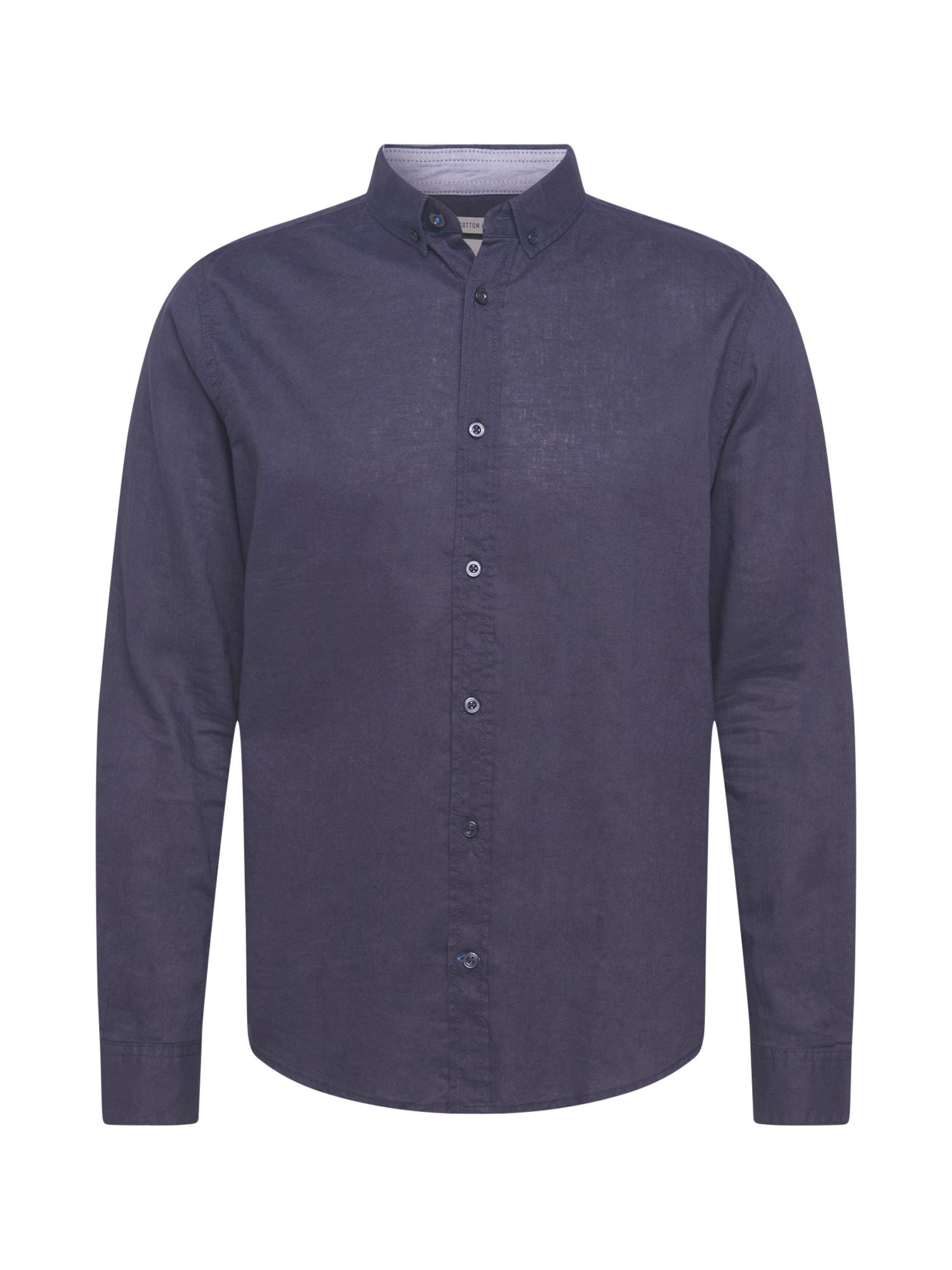 TOM TAILOR Dalykinio stiliaus marškiniai tamsiai mėlyna