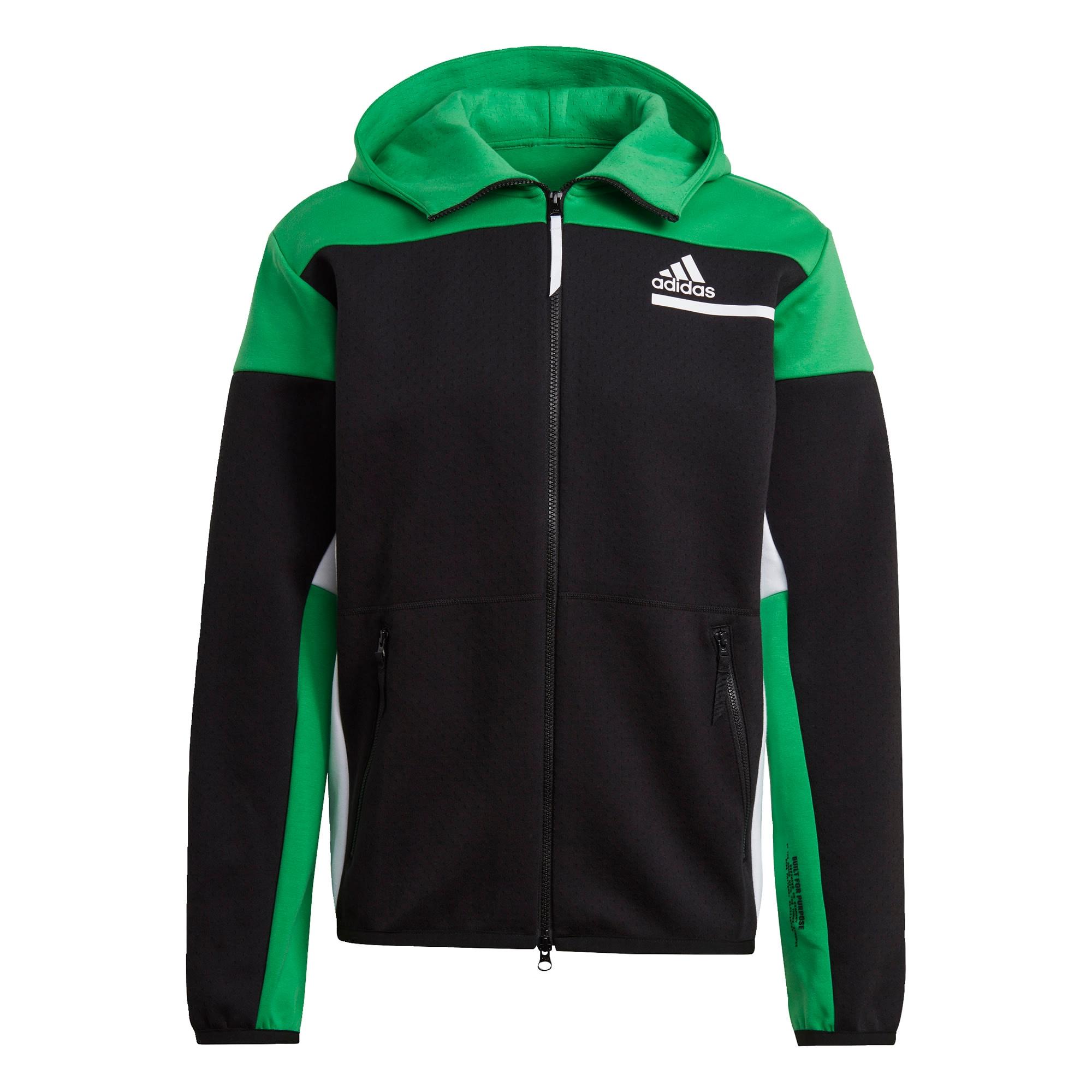 ADIDAS PERFORMANCE Sportinis džemperis juoda / žalia / balta