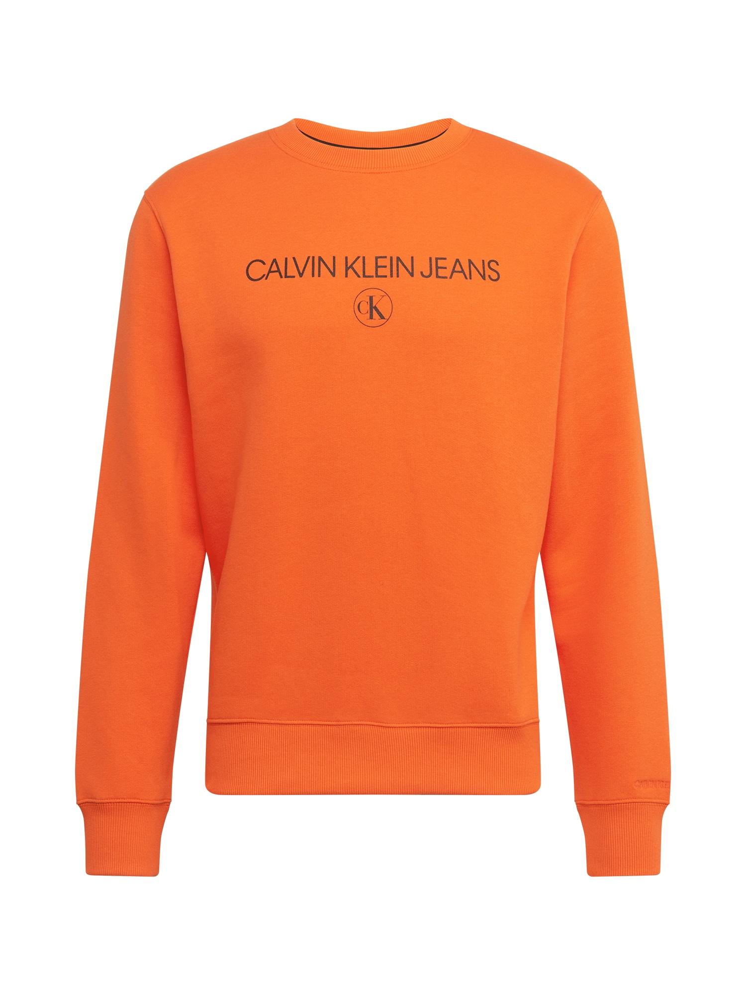Calvin Klein Jeans Megztinis be užsegimo oranžinė / juoda