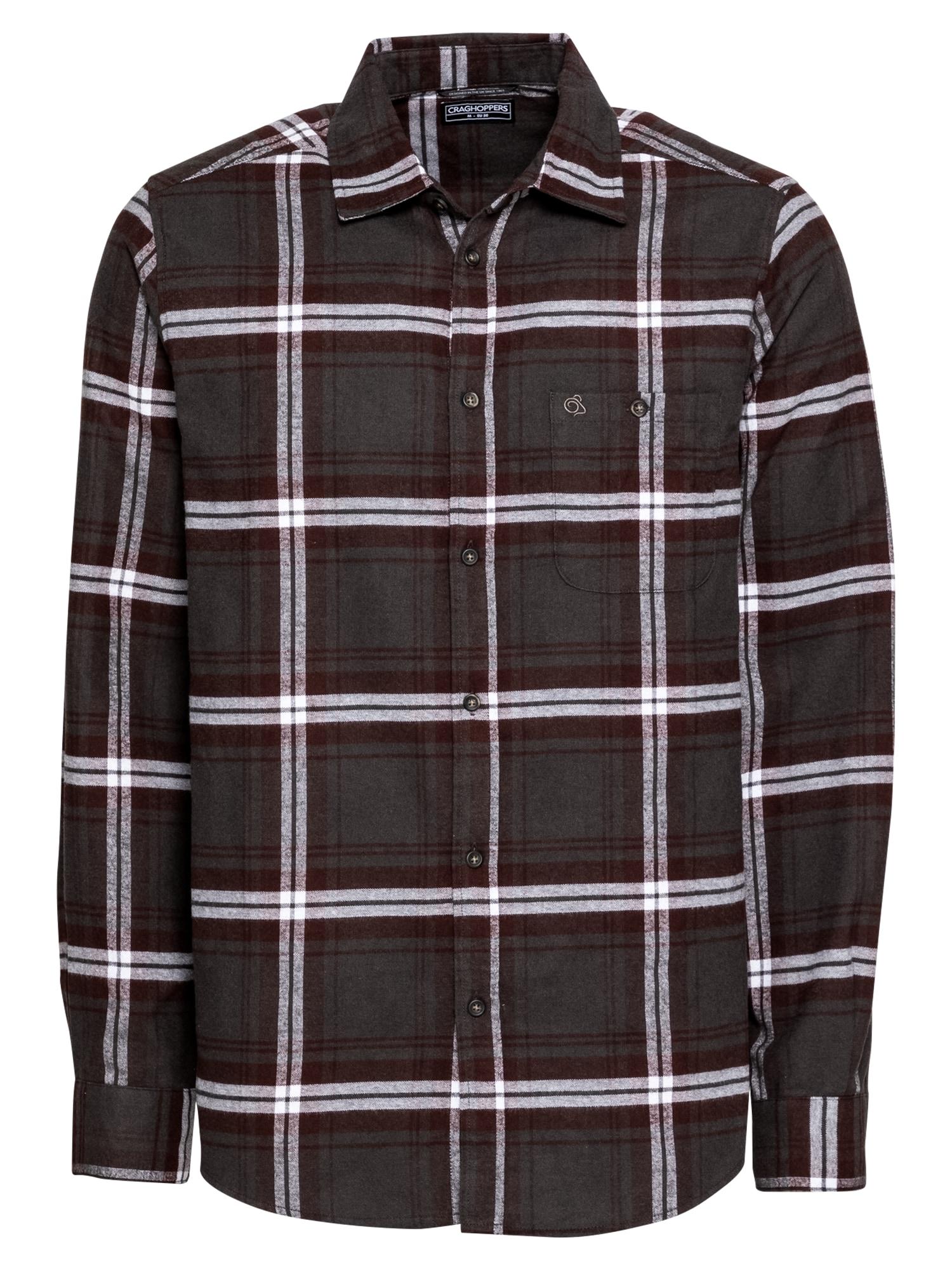 CRAGHOPPERS Funkciniai marškiniai juoda / vyno raudona spalva / balta