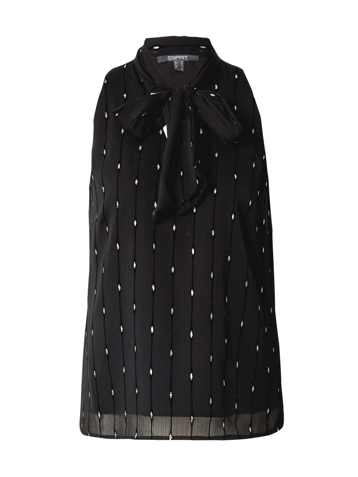 Esprit Collection Palaidinė juoda / sidabrinė