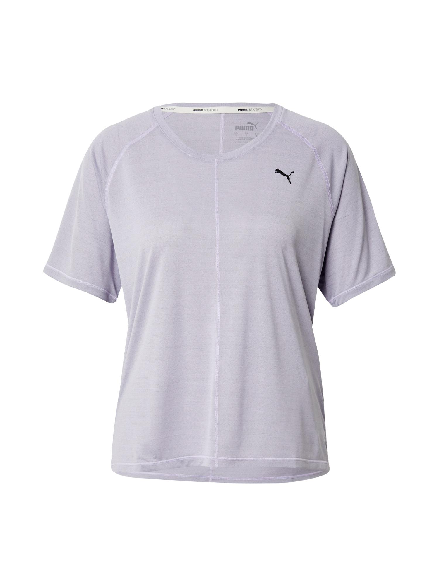 PUMA Sportiniai marškinėliai šviesiai violetinė / juoda