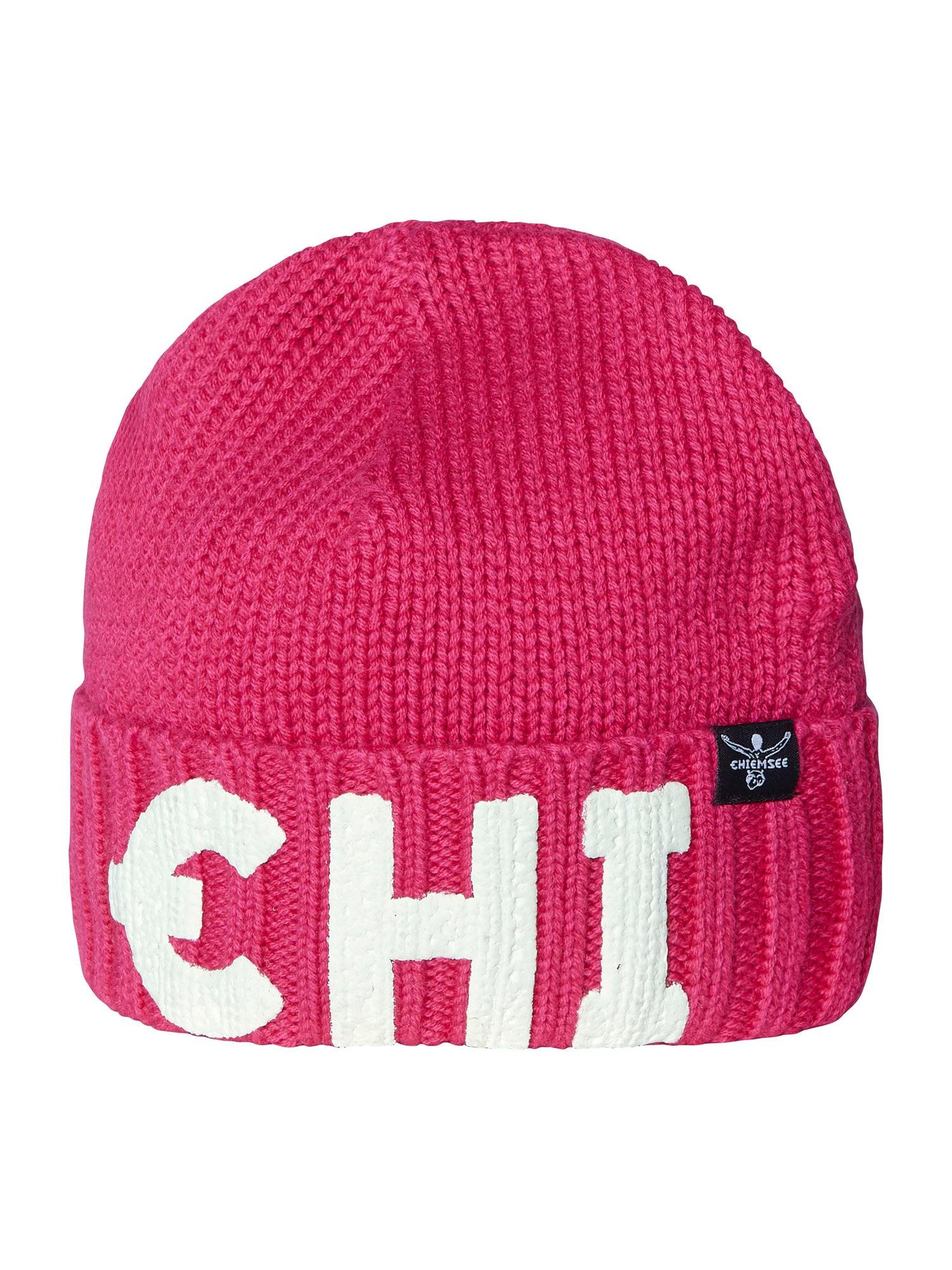 CHIEMSEE Sportovní čepice 'Vesuv'  pink / bílá