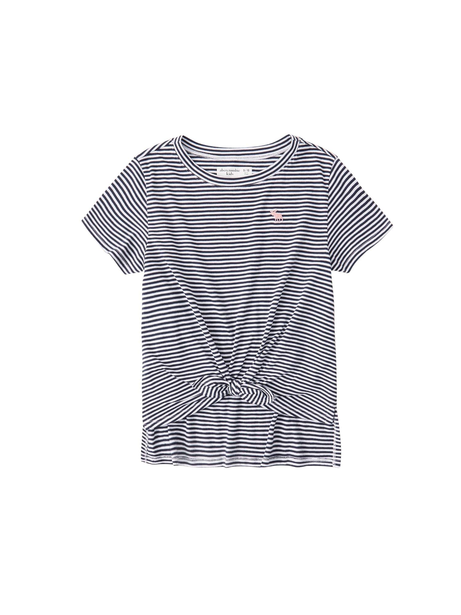 Abercrombie & Fitch Marškinėliai pilka / balta