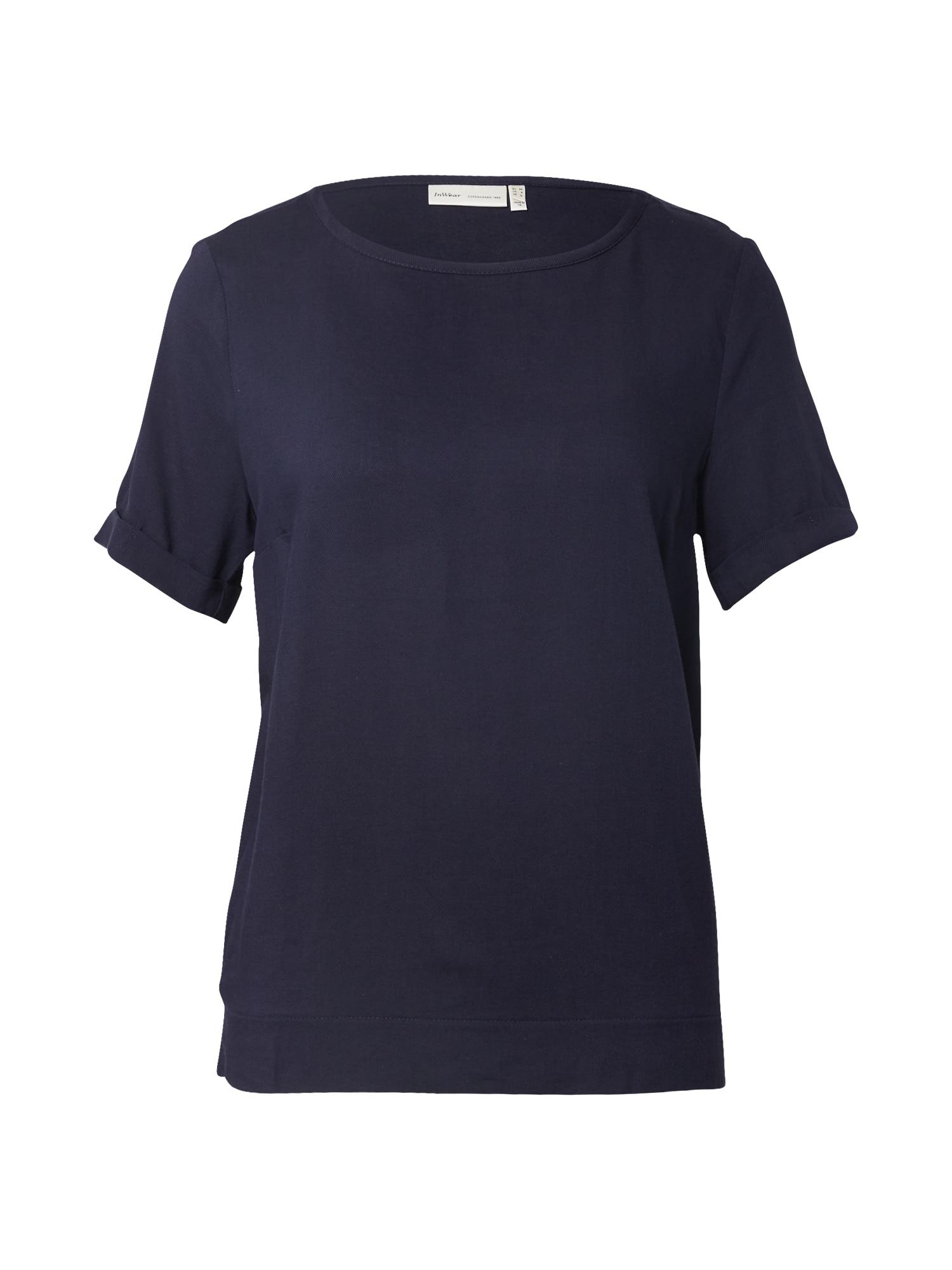 InWear Marškinėliai tamsiai mėlyna jūros spalva