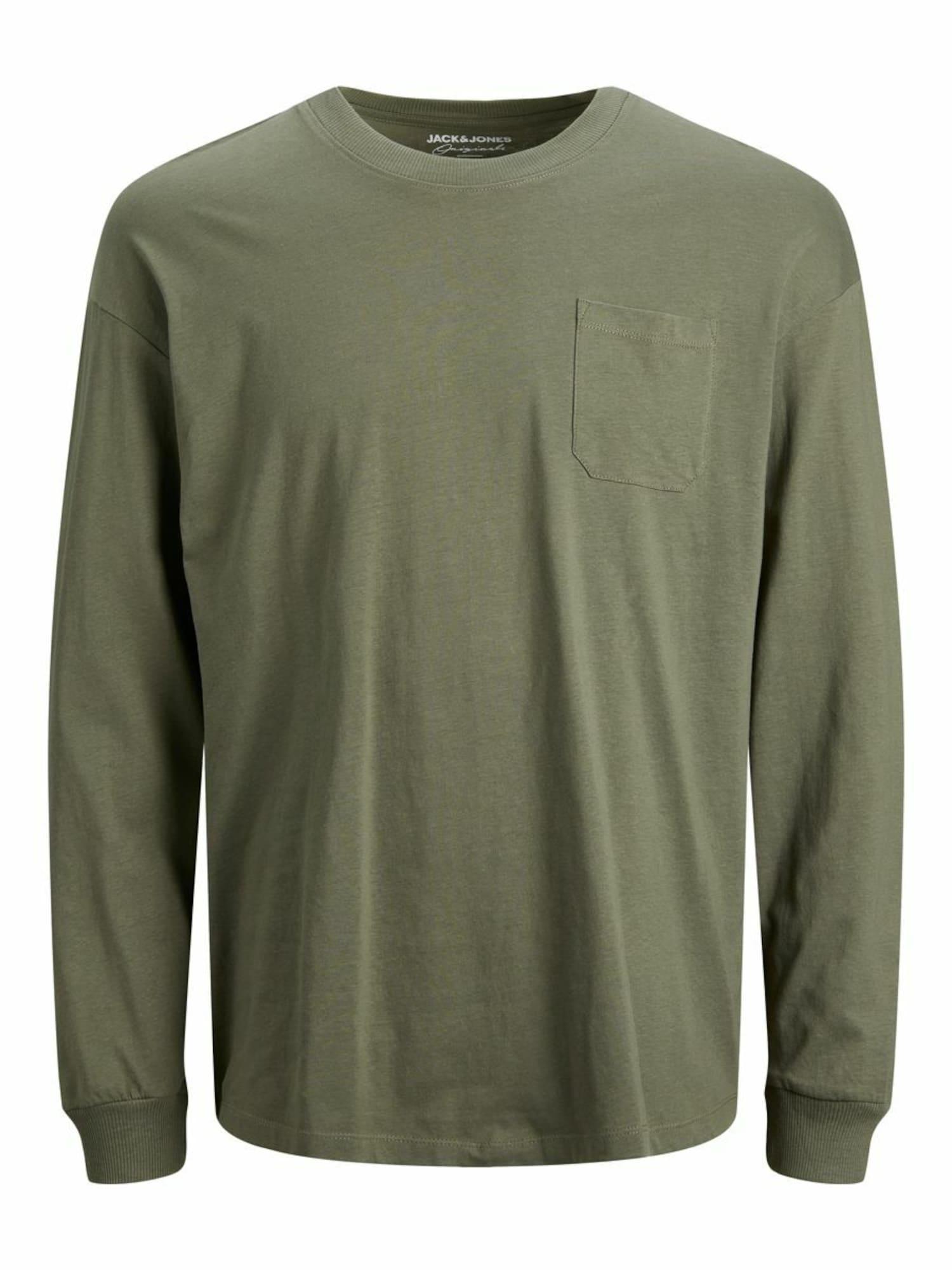 JACK & JONES Marškinėliai rusvai žalia
