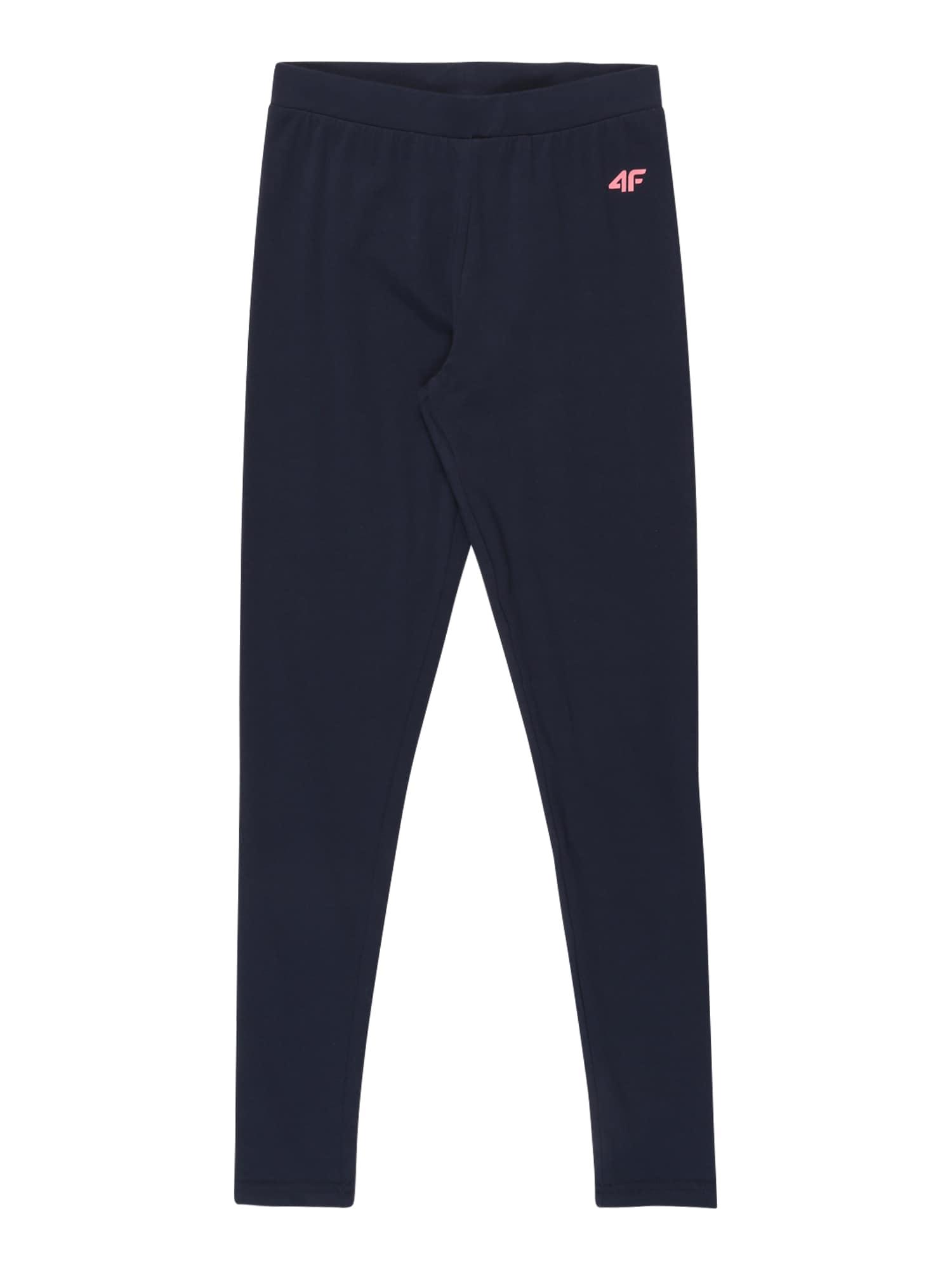 4F Sportinės kelnės tamsiai mėlyna / rožių spalva