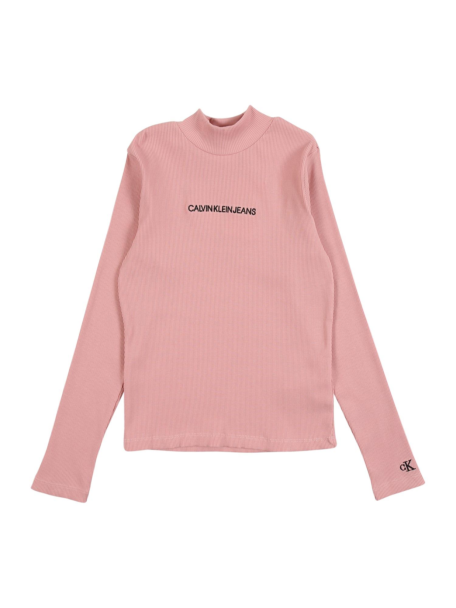 Calvin Klein Jeans Tričko  starorůžová