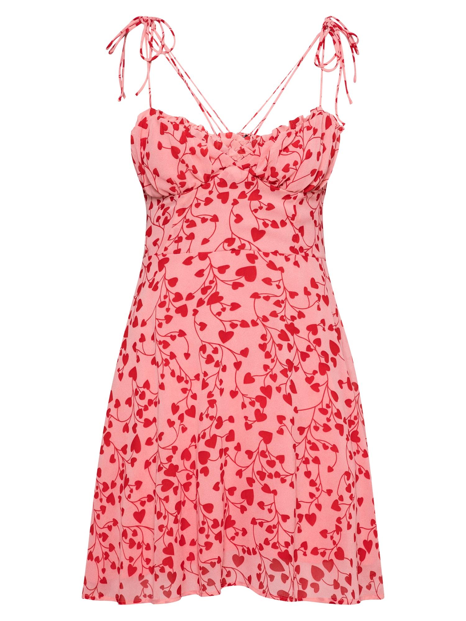 Parallel Lines Vasarinė suknelė tamsiai raudona / rožinė / šviesiai raudona