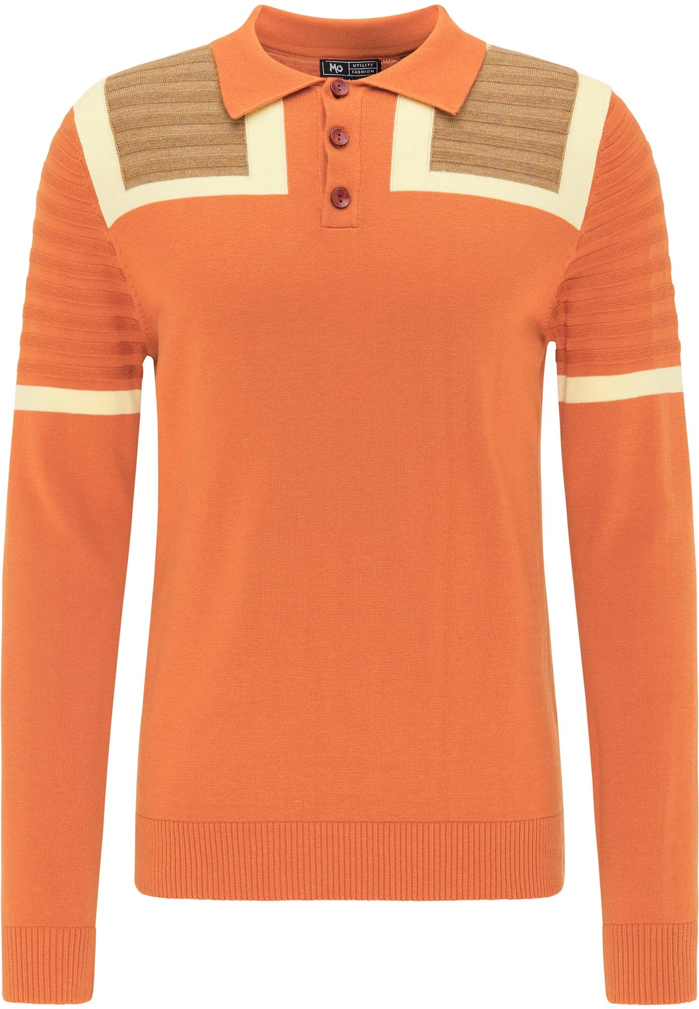 MO Megztinis smėlio / nebalintos drobės spalva / margai oranžinė