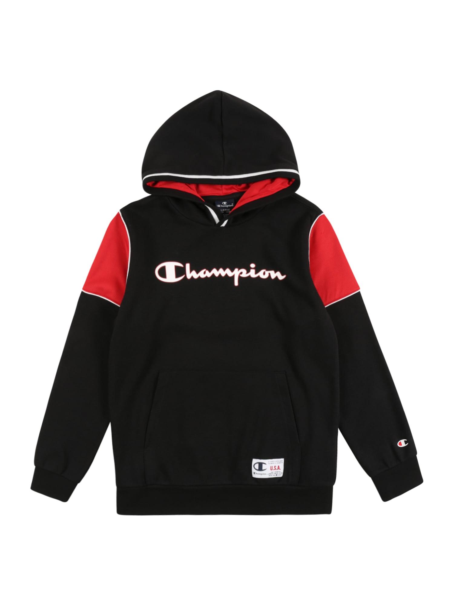 Champion Authentic Athletic Apparel Megztinis be užsegimo balta / juoda / raudona